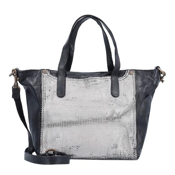 Handtaschen für Frauen - Campomaggi Traditional Handtasche Leder 22 cm schwarz silber  - Onlineshop ABOUT YOU