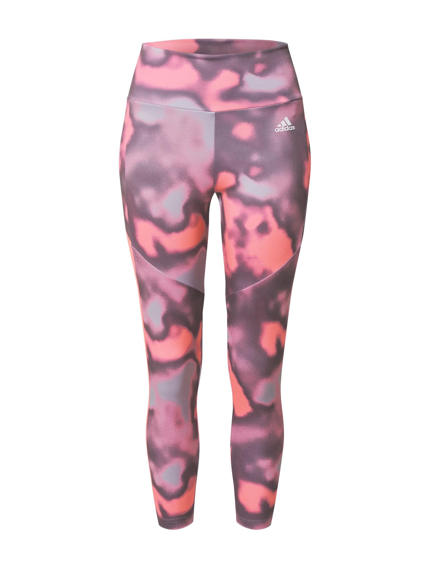 ADIDAS PERFORMANCE Sportinės kelnės raudona / tamsiai violetinė / rožinė