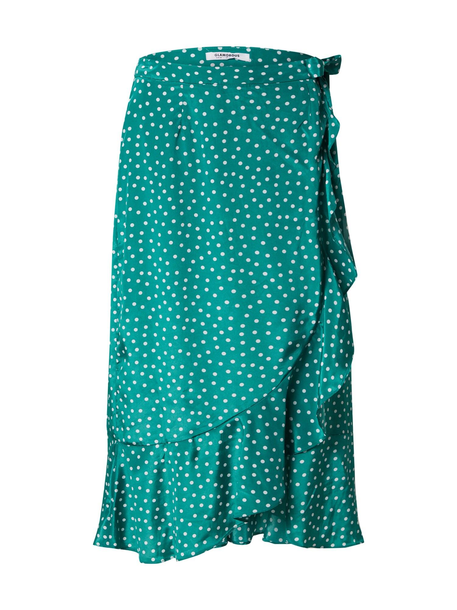 GLAMOROUS Sukňa 'EA0356'  biela / zelená