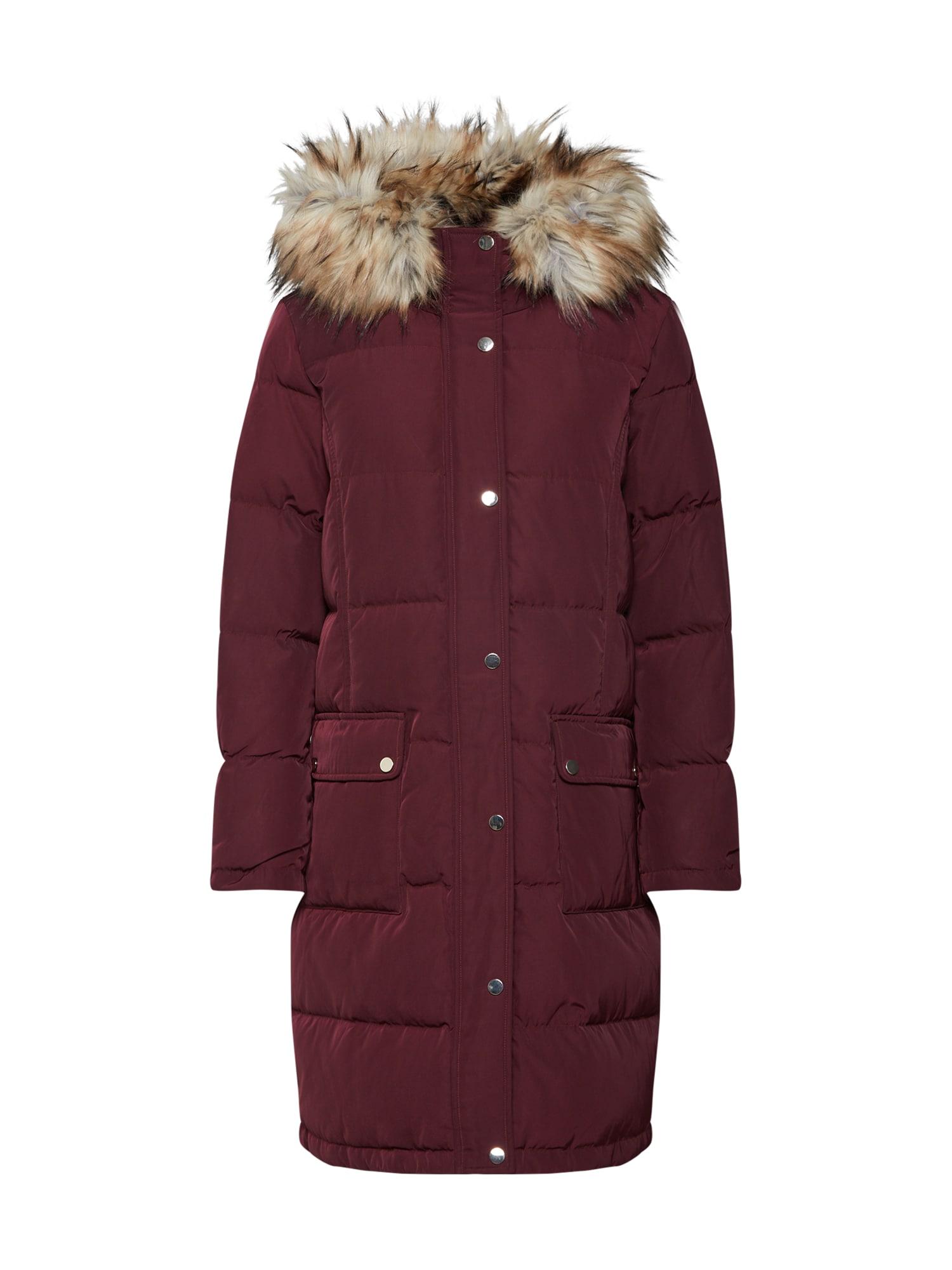 VILA Žieminis paltas 'Vicalifornia' vyno raudona spalva