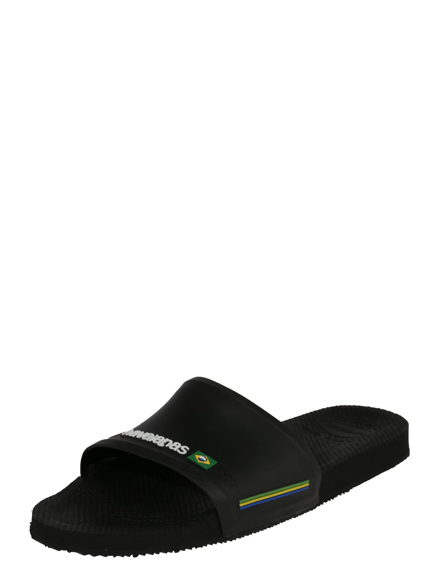 Pantofle Slide Brasil černá bílá HAVAIANAS