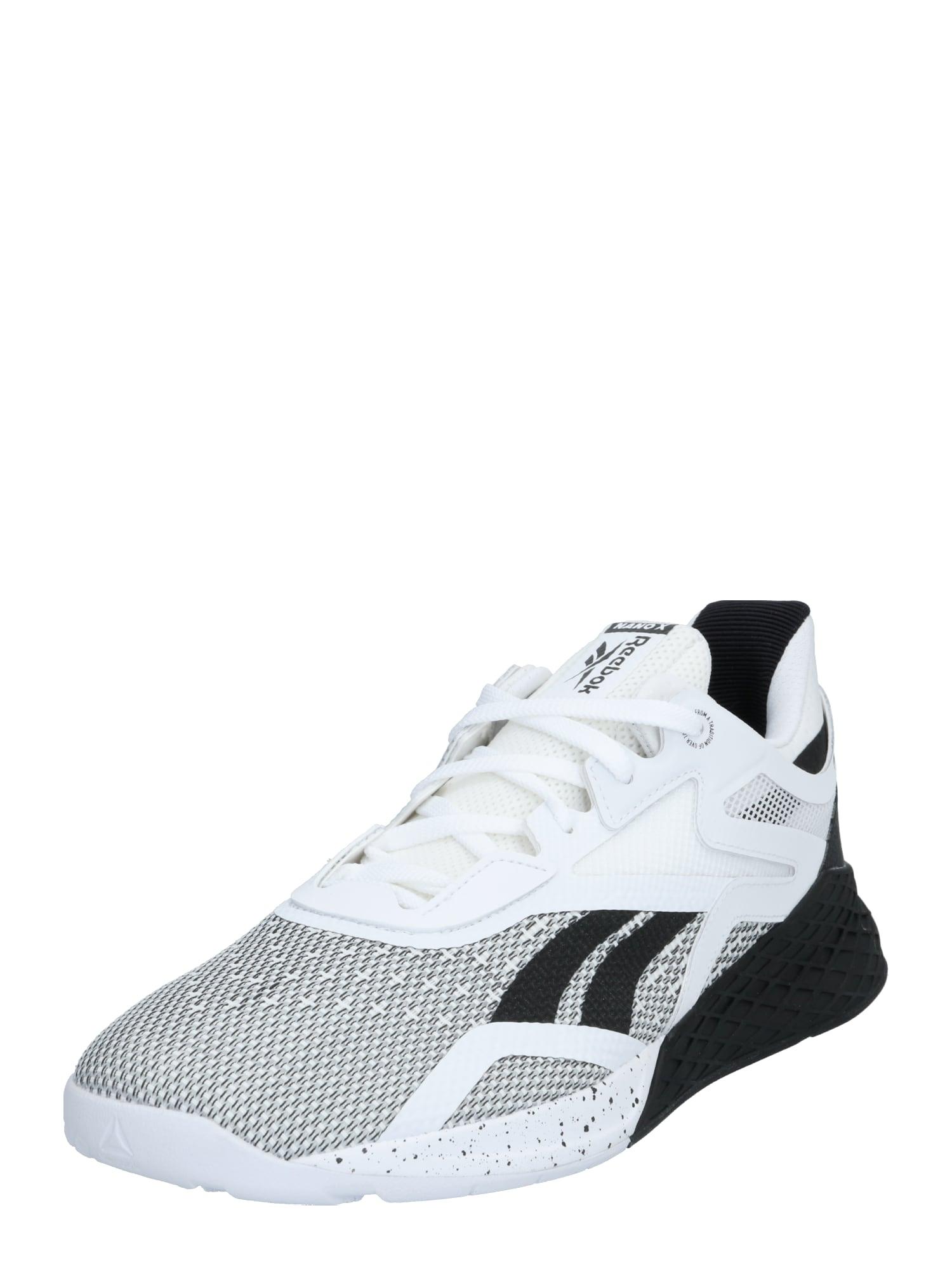 REEBOK Bėgimo batai 'Nano X' balta / juoda