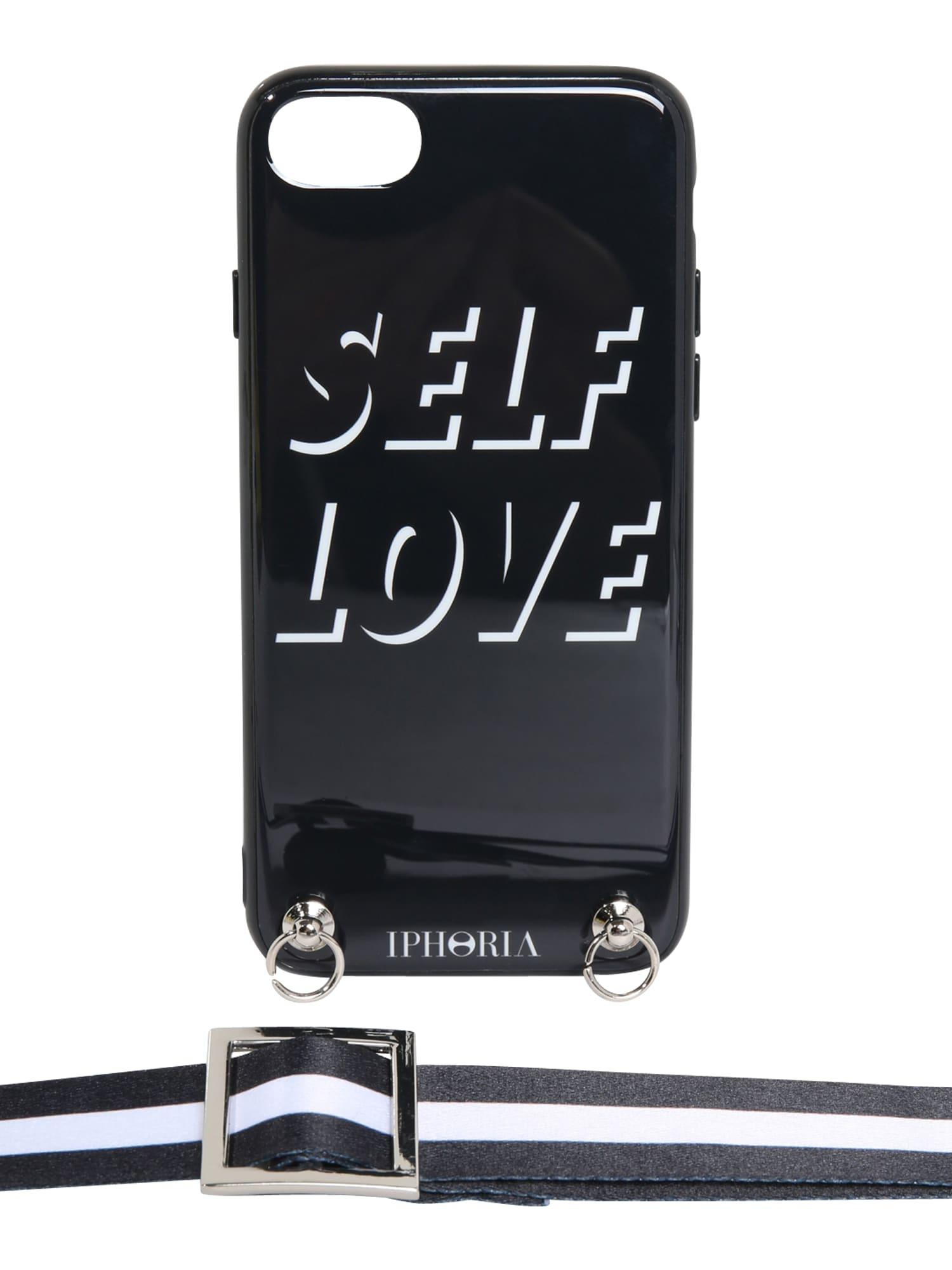 Pouzdro na smartphone Necklace Case with Strap černá IPHORIA
