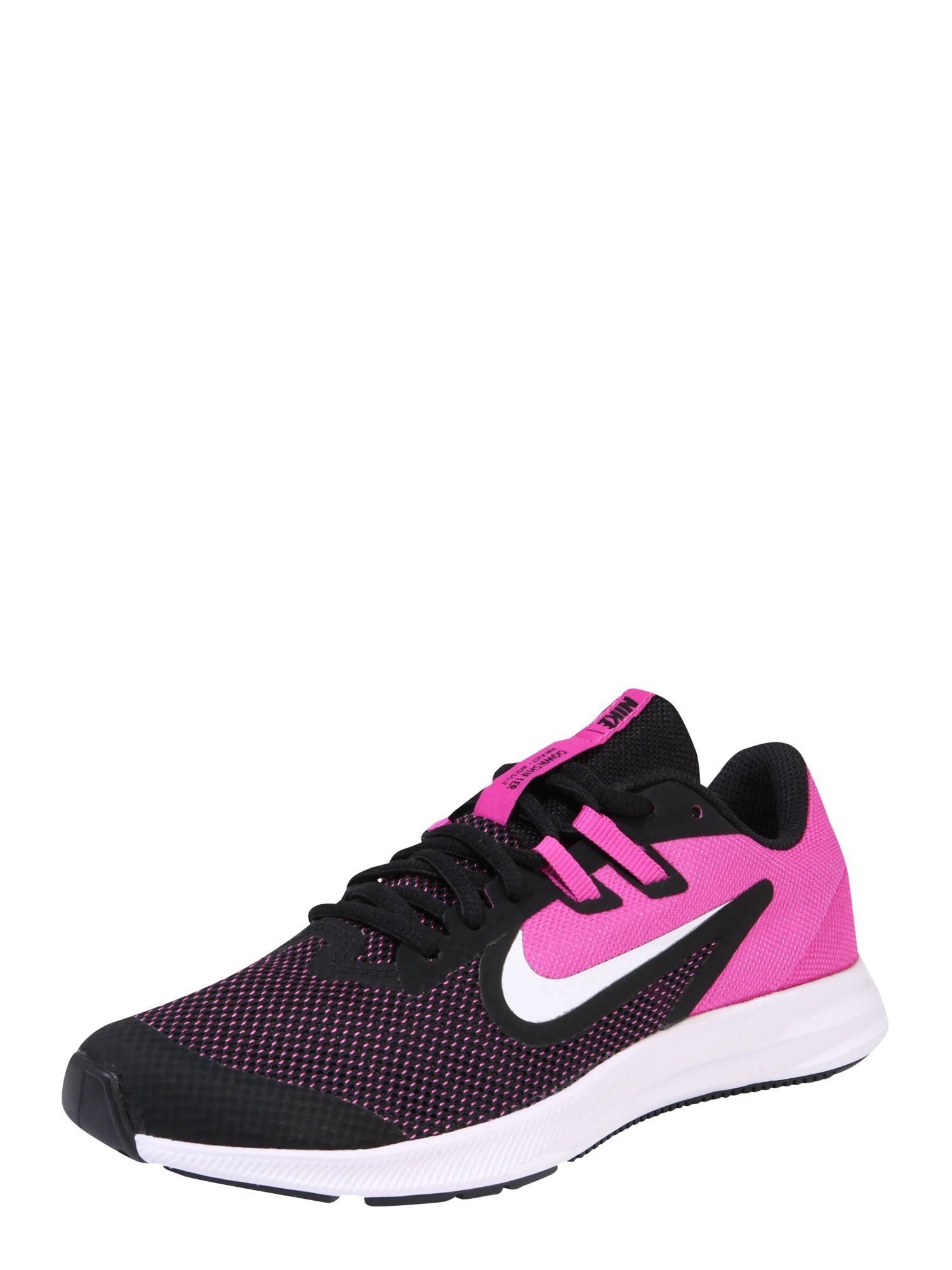 NIKE Sportiniai batai 'Nike Downshifter 9' rožinė / juoda