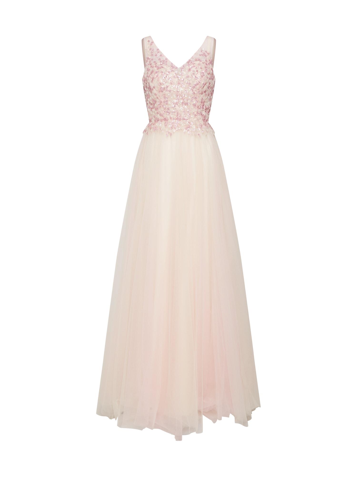 mascara Večerné šaty 'Beads Dress'  šampanské / ružová