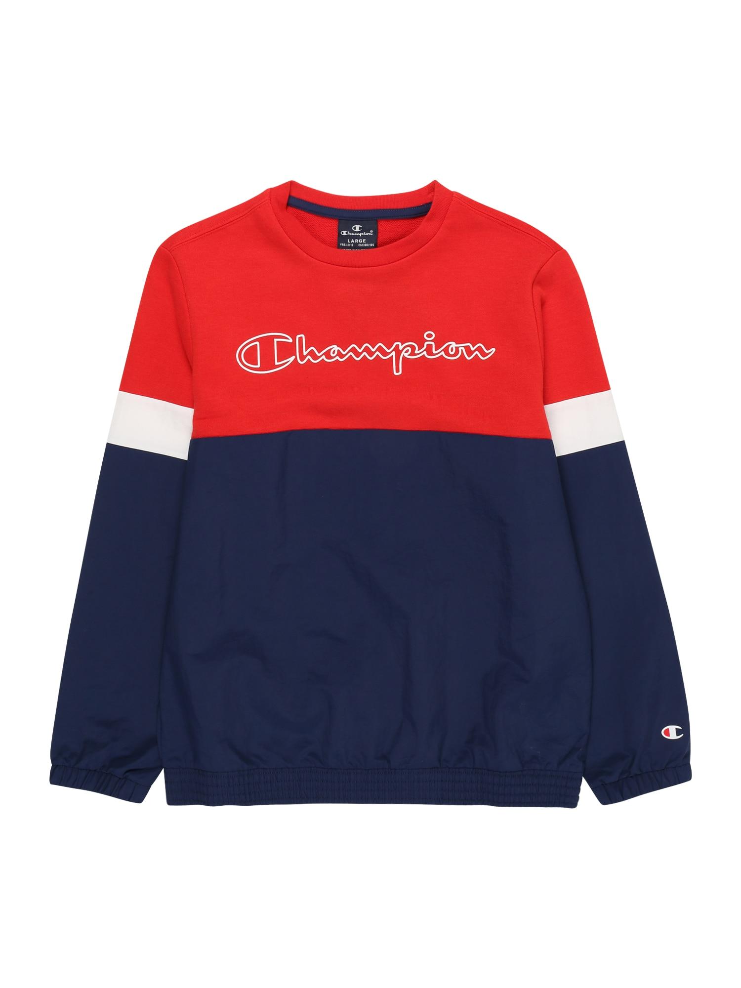 Champion Authentic Athletic Apparel Megztinis be užsegimo tamsiai mėlyna / raudona