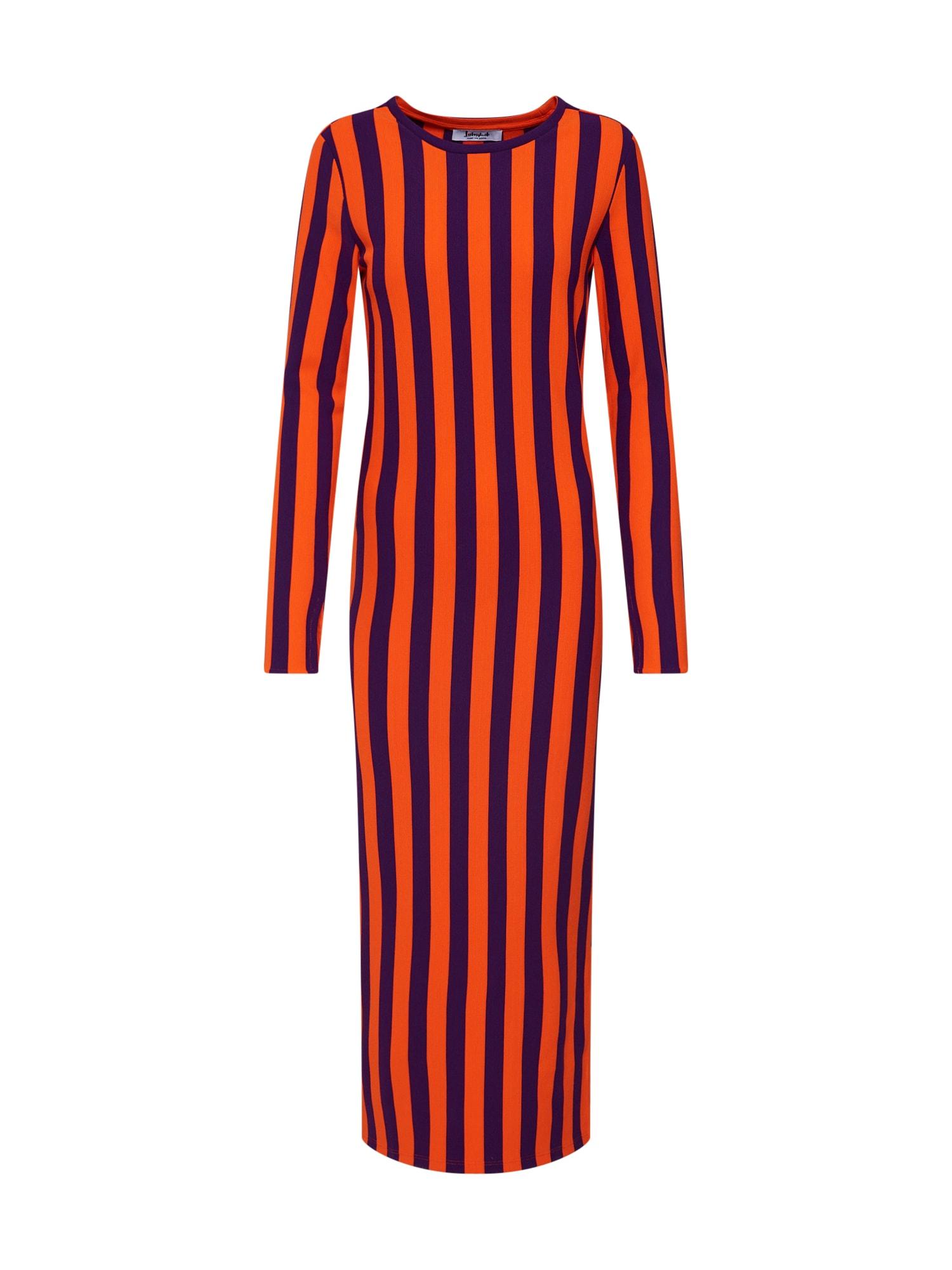 Šaty fialová oranžová Liebesglück