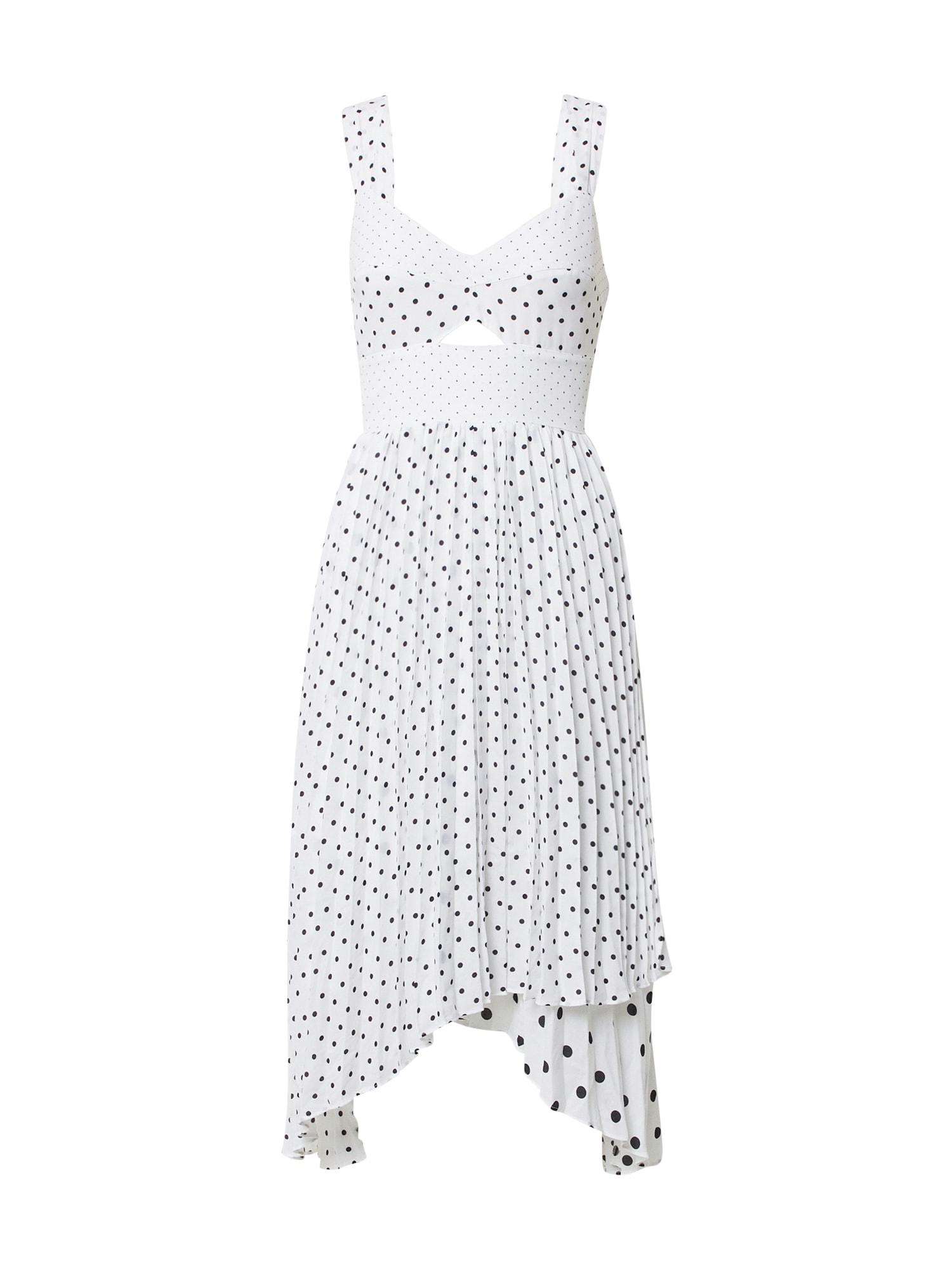 Banana Republic Kokteilinė suknelė balta / juoda