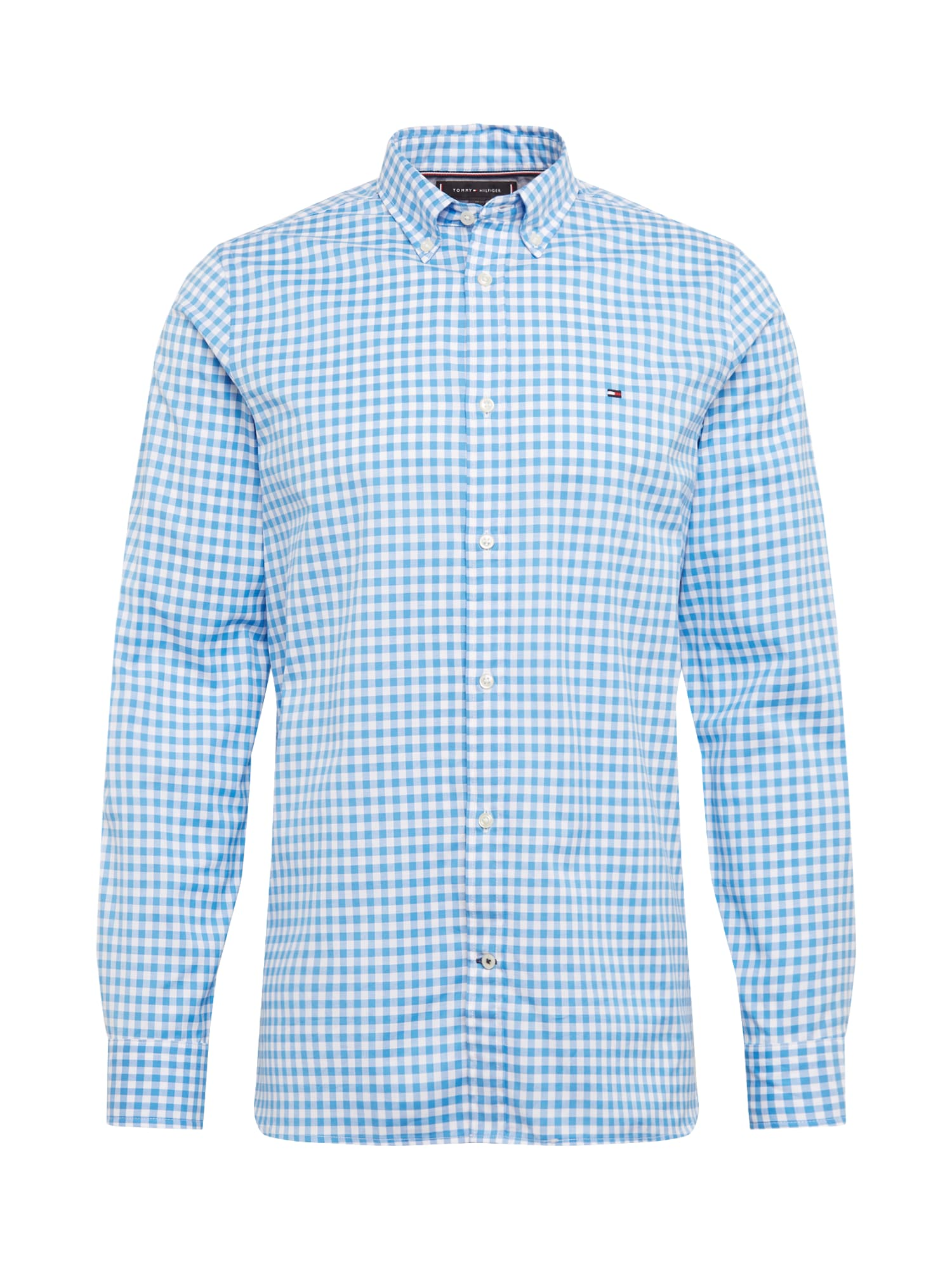 TOMMY HILFIGER Dalykiniai marškiniai 'GINGHAM' mėlyna / balta