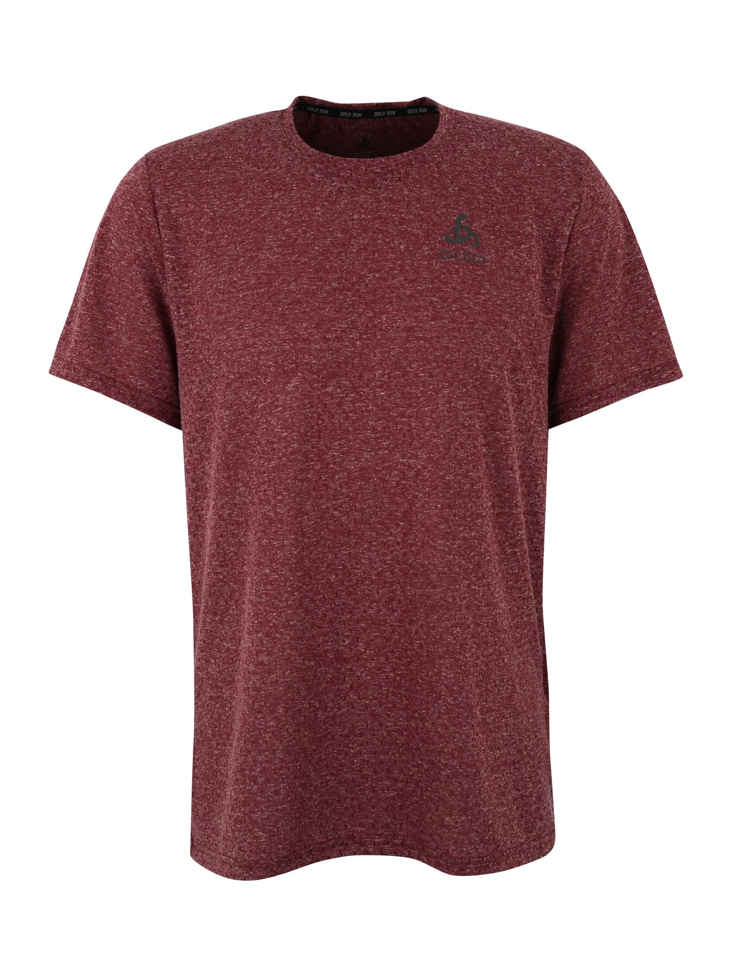 Funkční tričko BL TOP Crew neck ss MILLENNIUM Linencoo vínově červená ODLO