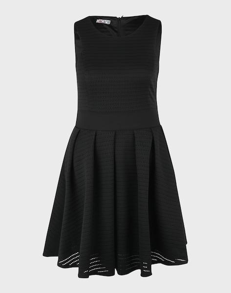 wal g ausgestelltes kleid mit lochmuster in schwarz. Black Bedroom Furniture Sets. Home Design Ideas