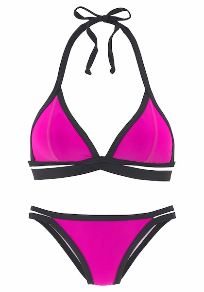 Bademode - Triangel Bikini › Bench › fuchsia schwarz  - Onlineshop ABOUT YOU