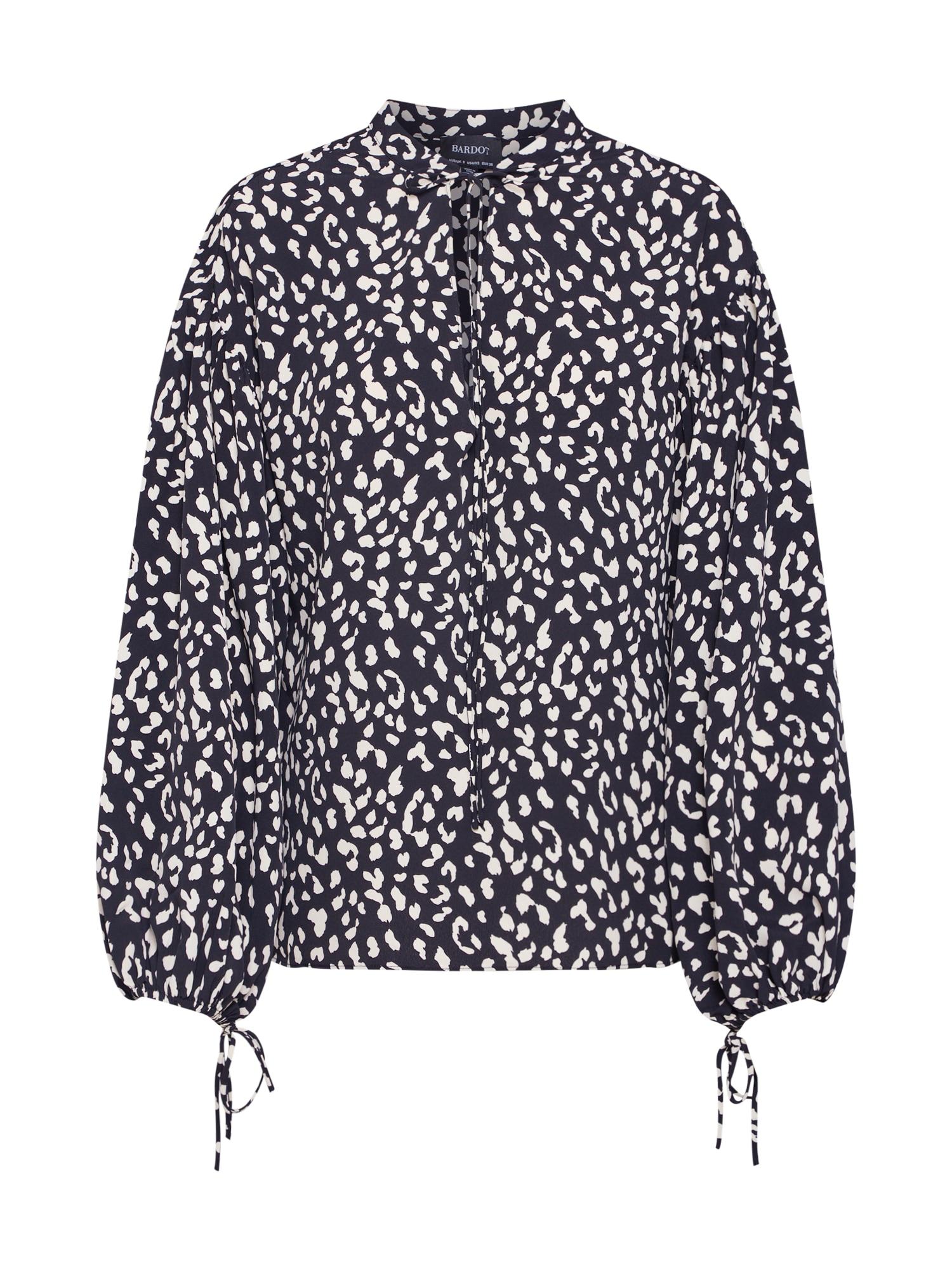 Halenka Rita Leopard béžová černá Bardot