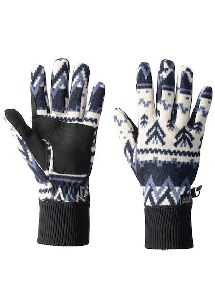Handschuhe für Frauen - JACK WOLFSKIN Handschuhe 'SCANDIC GLOVE WOMEN' nachtblau royalblau weiß  - Onlineshop ABOUT YOU