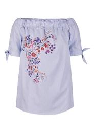 Damen Trendige Carmen-Bluse blau | 04054507761014