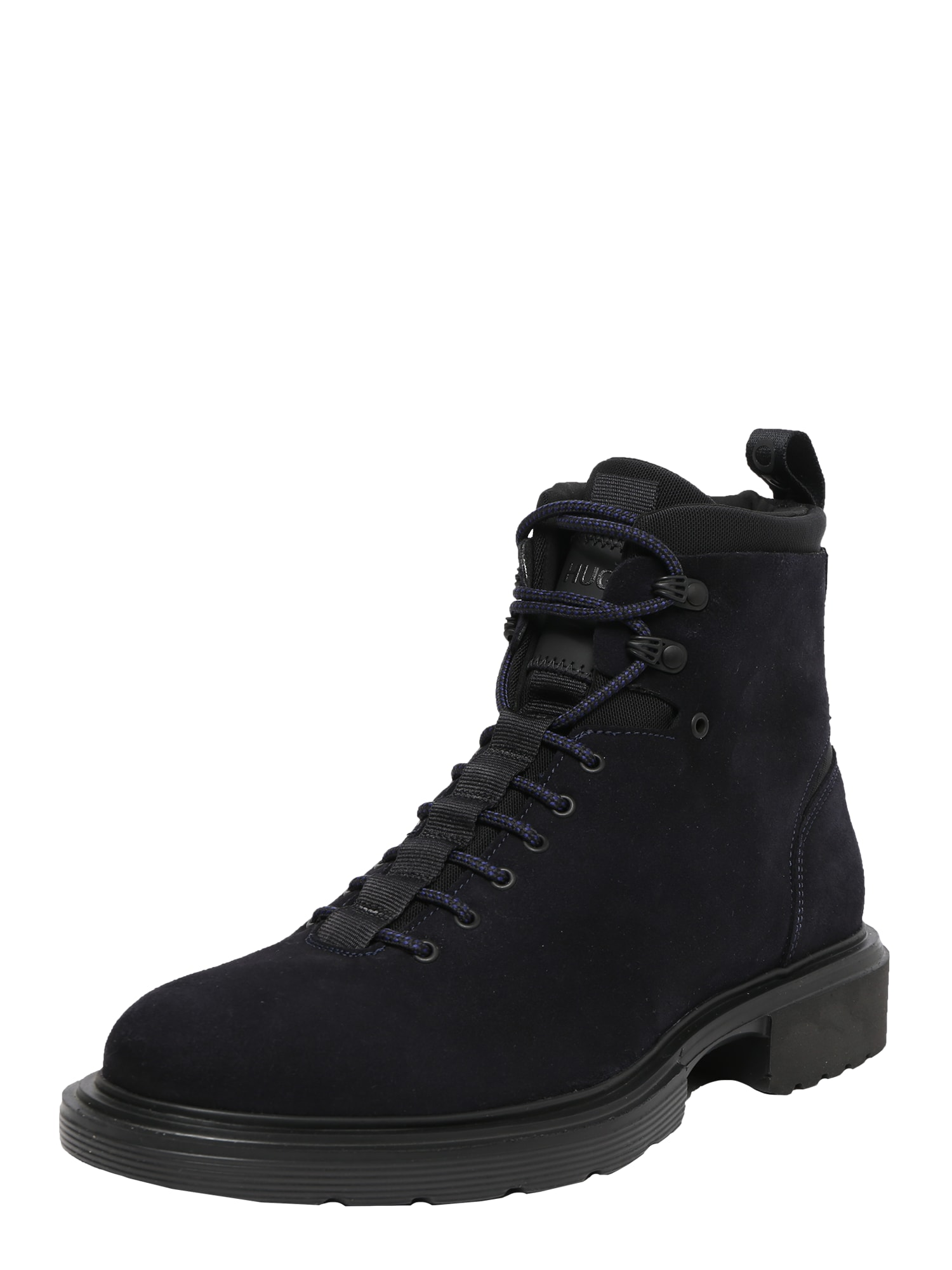 HUGO Auliniai batai su raišteliais kobalto mėlyna