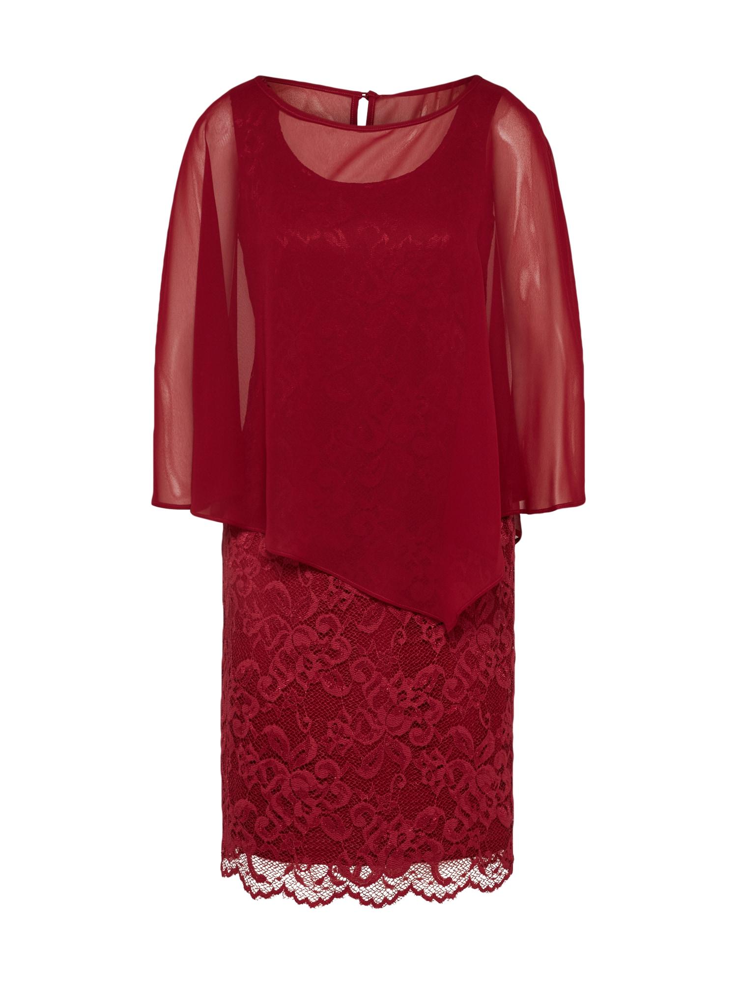 Koktejlové šaty rubínově červená Vera Mont