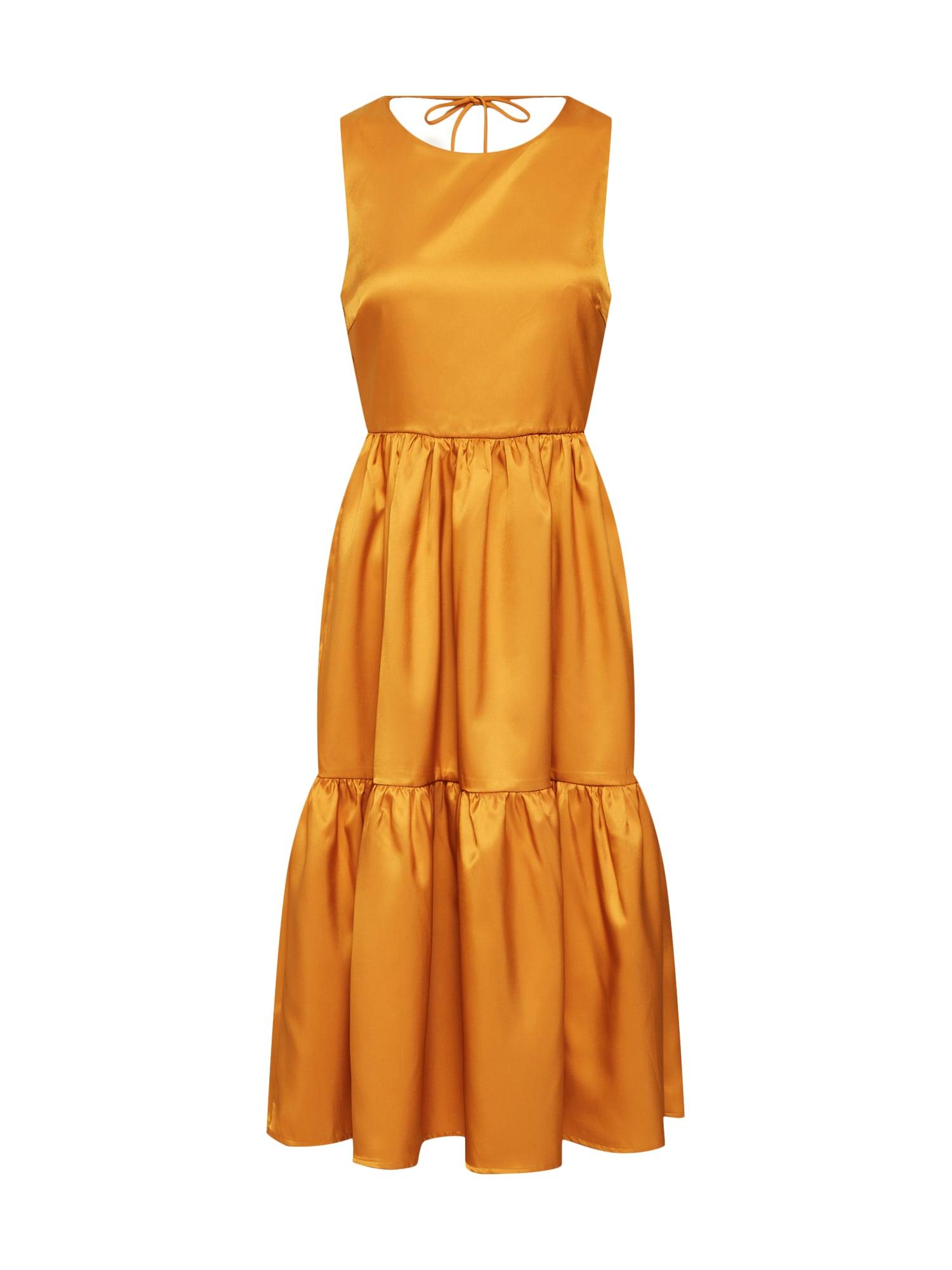 Letní šaty ESTELLE tmavě žlutá Y.A.S