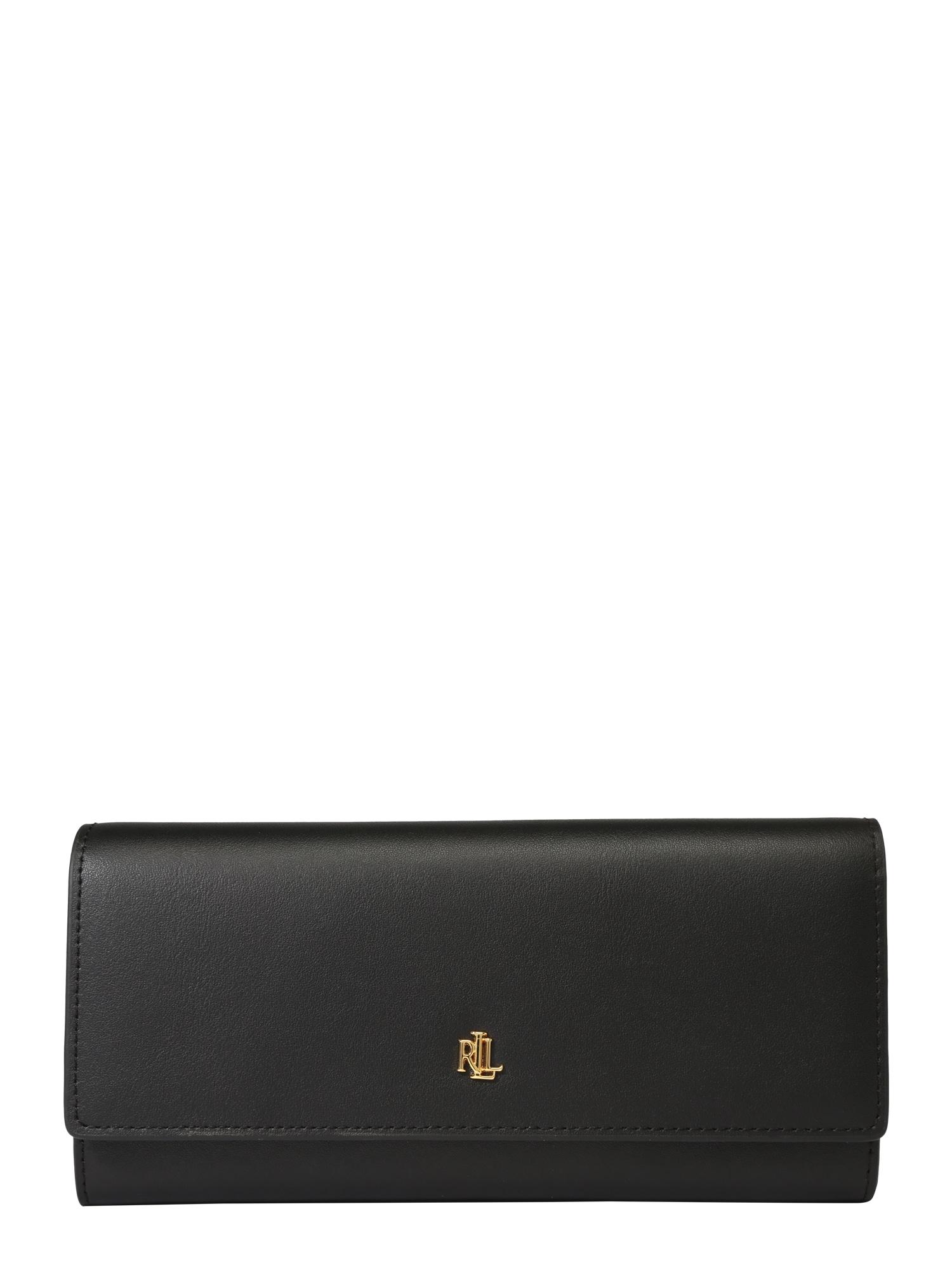 Peněženka zlatá černá Lauren Ralph Lauren