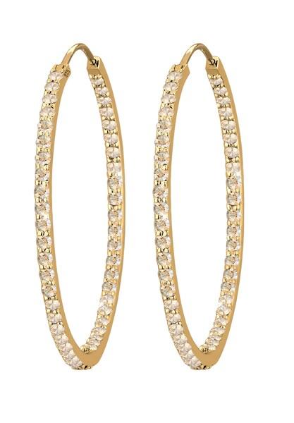 Ohrringe für Frauen - ELLI PREMIUM Ohrringe 'Kristall' gold weiß  - Onlineshop ABOUT YOU