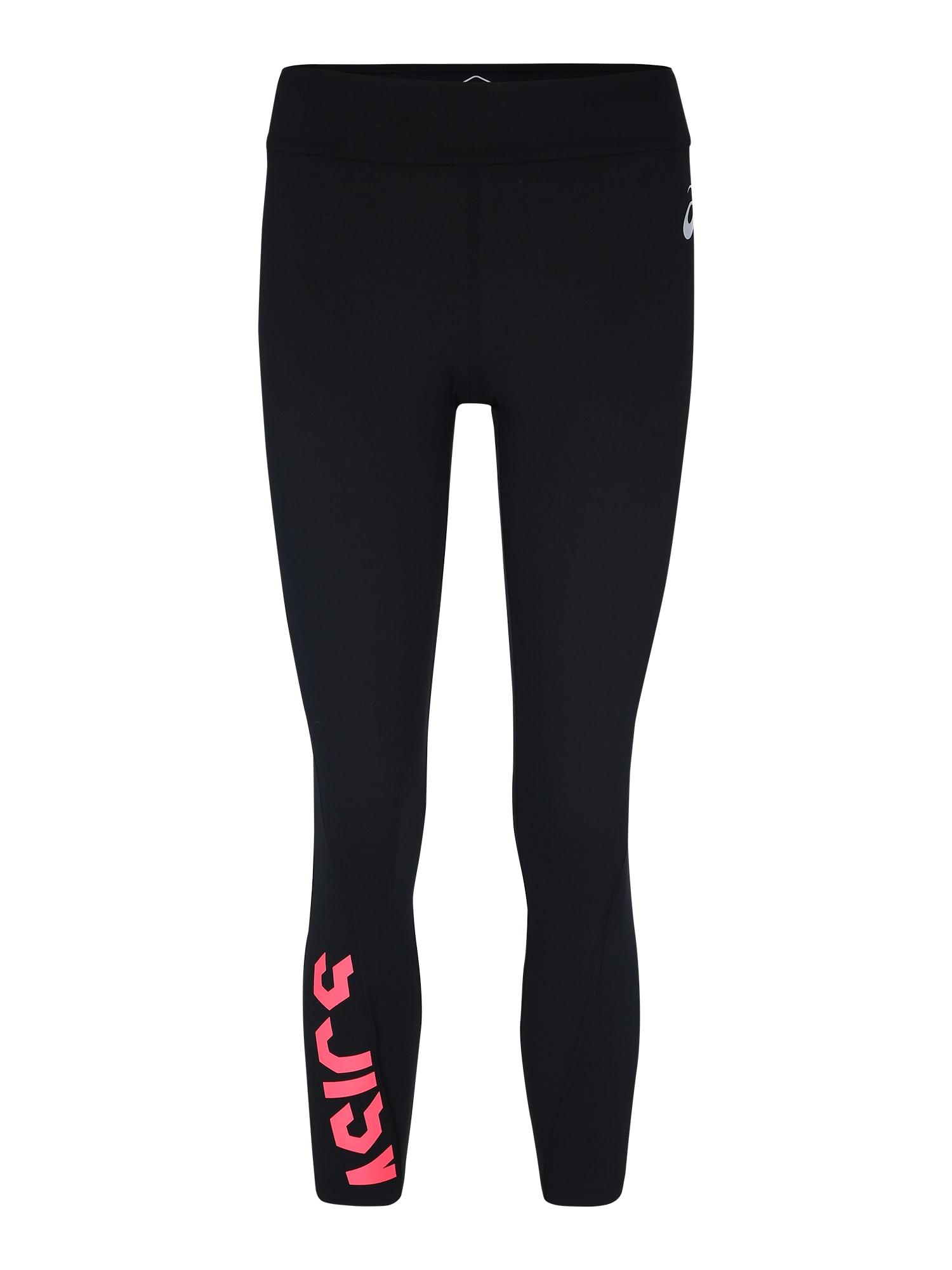 ASICS Sportinės kelnės 'ESNT' rožinė / juoda
