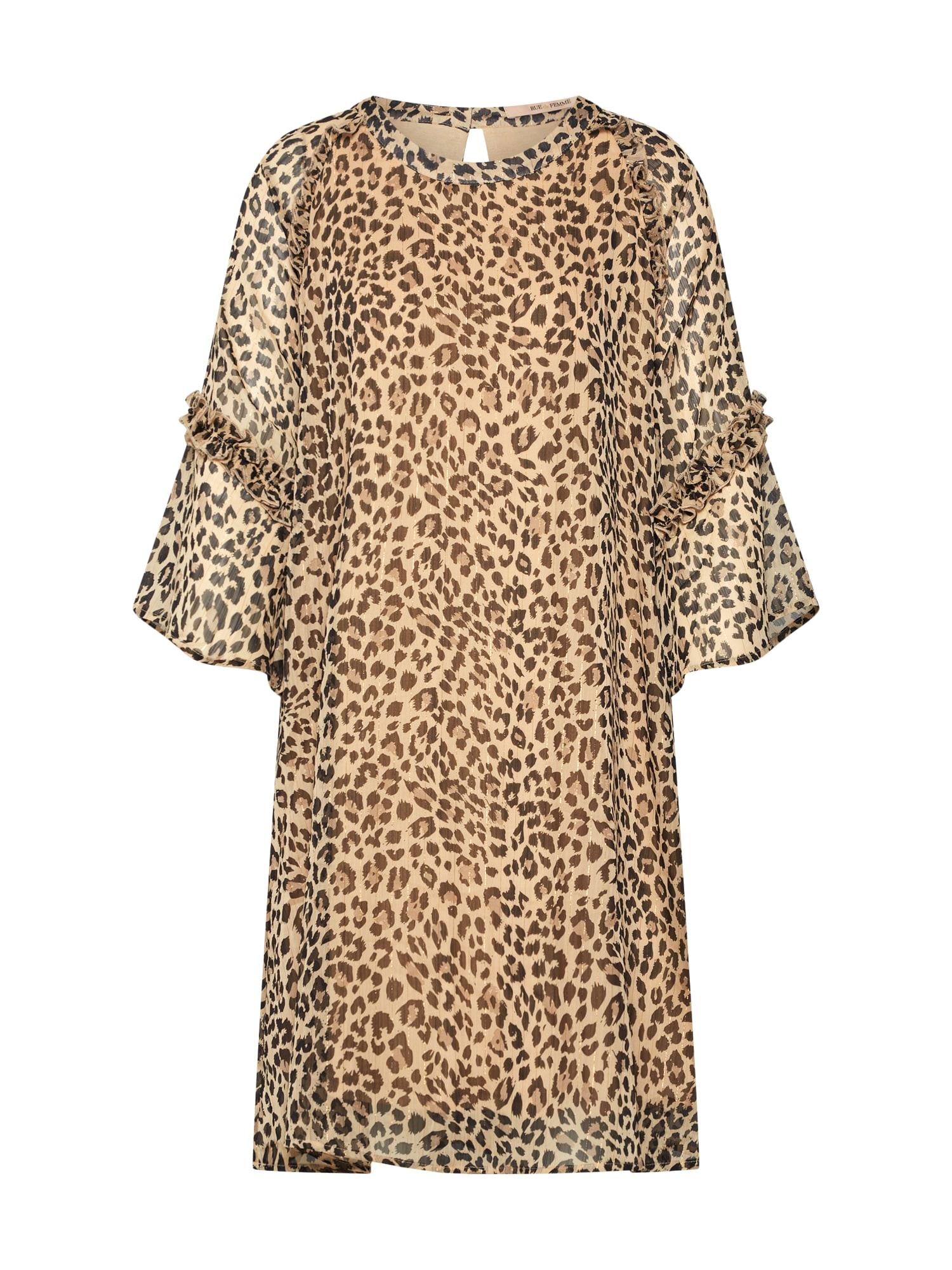 Letní šaty Viva Spring písková černá RUE De FEMME