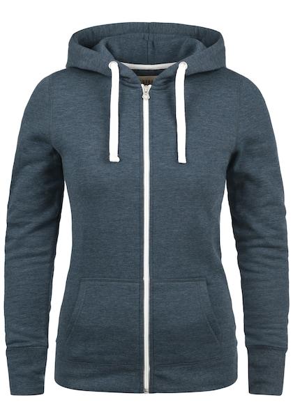 Jacken für Frauen - Desires Kapuzensweatjacke 'Derby Zip' blau  - Onlineshop ABOUT YOU