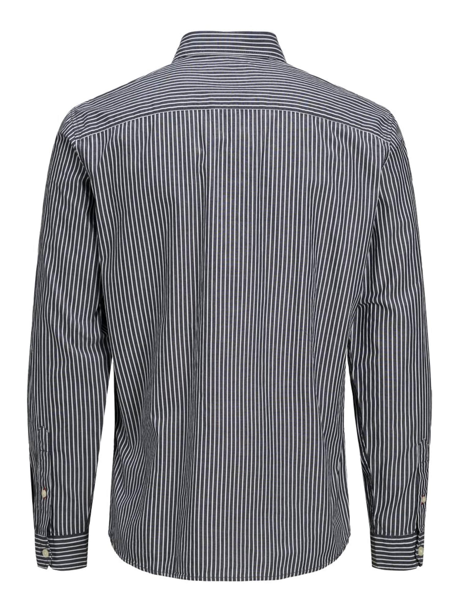 JACK & JONES Skjorta  marinblå / vit