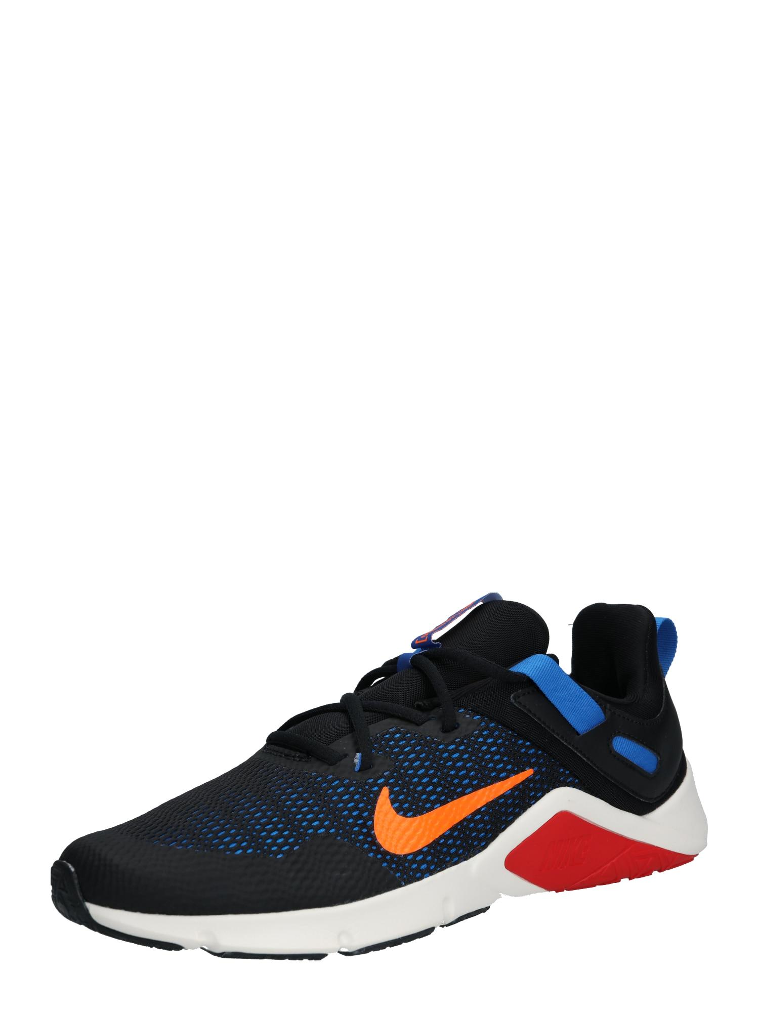 NIKE Sportiniai batai 'Legend' juoda / oranžinė / mėlyna dūmų spalva