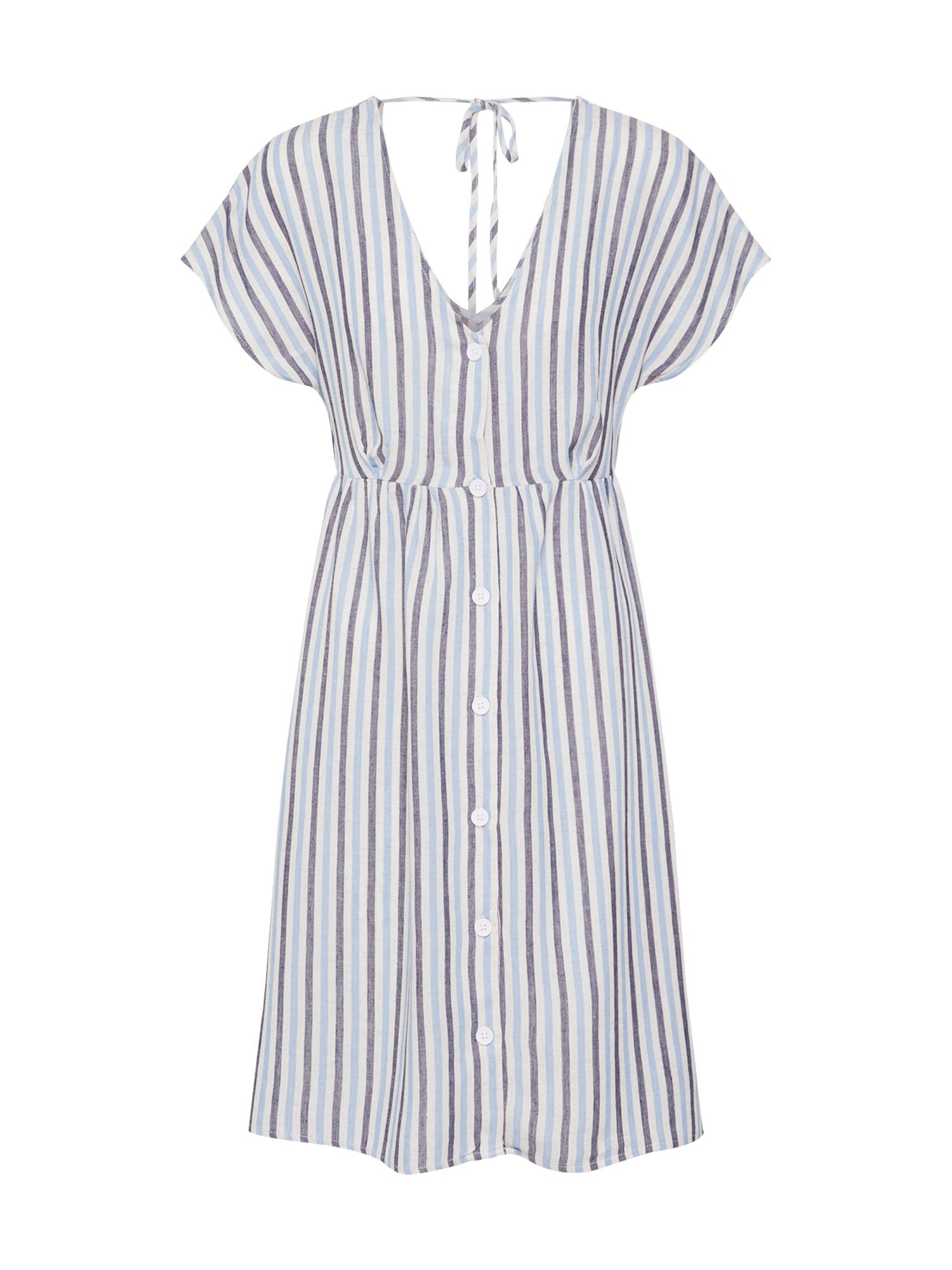 Letní šaty WENDY světlemodrá bílá OBJECT
