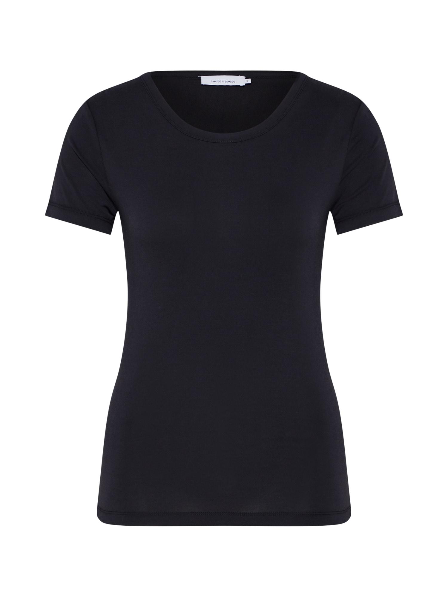 Tričko LILA SS 10348 černá Samsoe & Samsoe