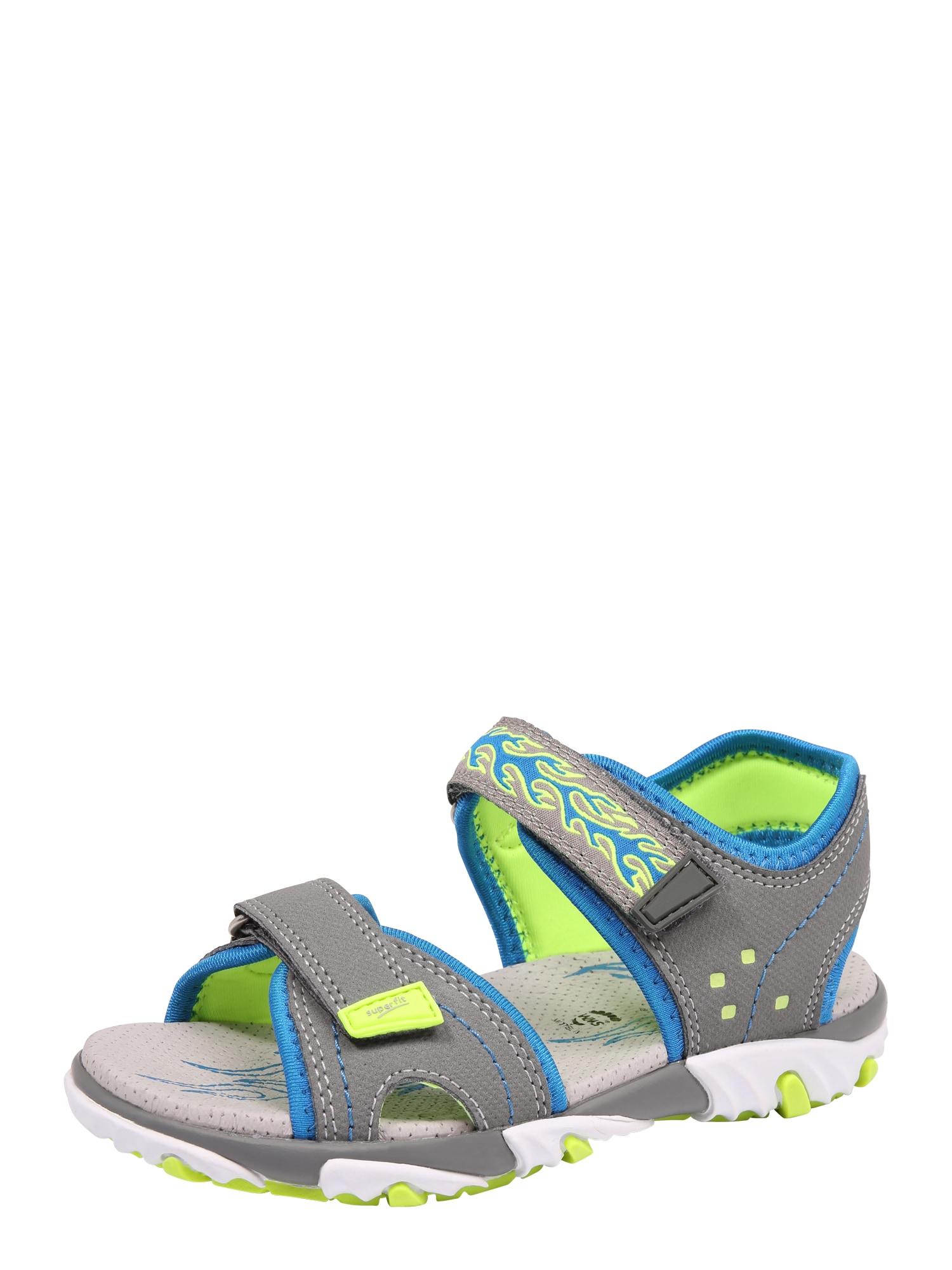 Otevřená obuv Mike 2 modrá šedá svítivě zelená SUPERFIT