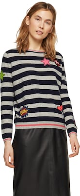 PRINCESS GOES HOLLYWOOD Kaschmirpullover mit Patches