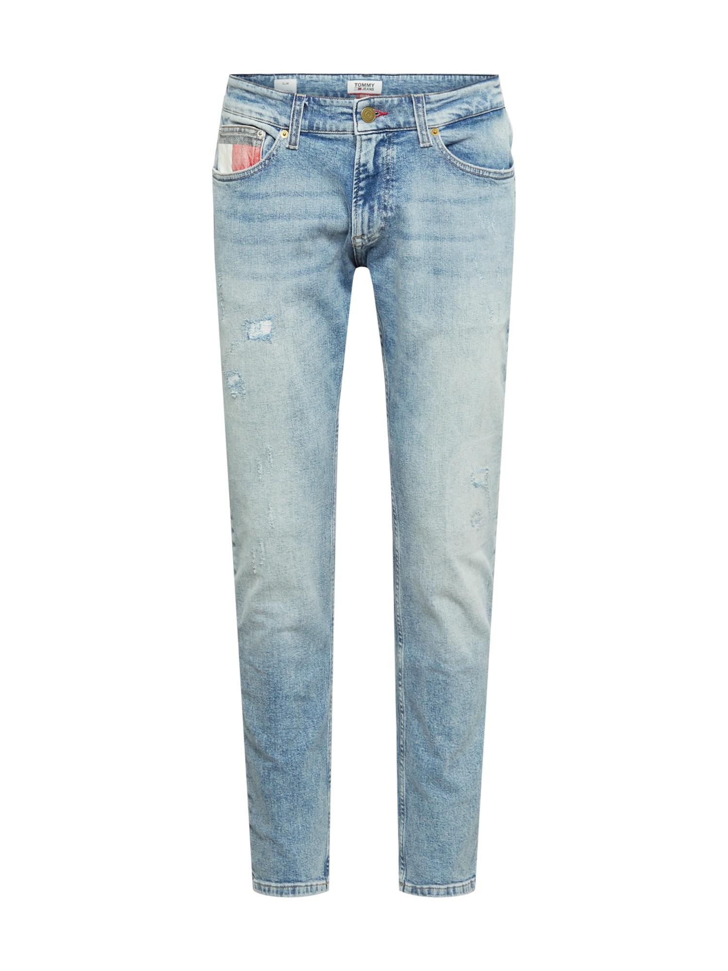Tommy Jeans Džíny 'SCANTON'  modrá džínovina / bílá / červená