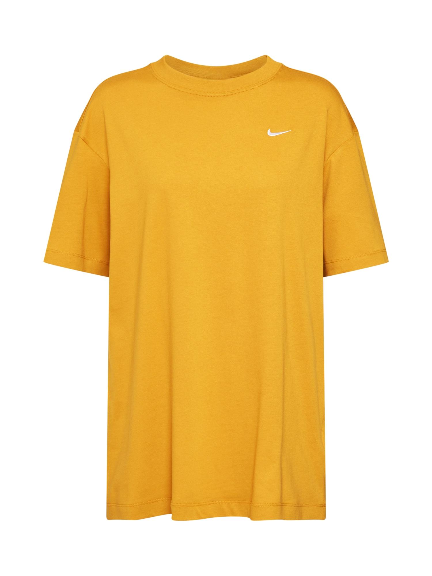Oversized tričko ESSNTL zlatě žlutá Nike Sportswear