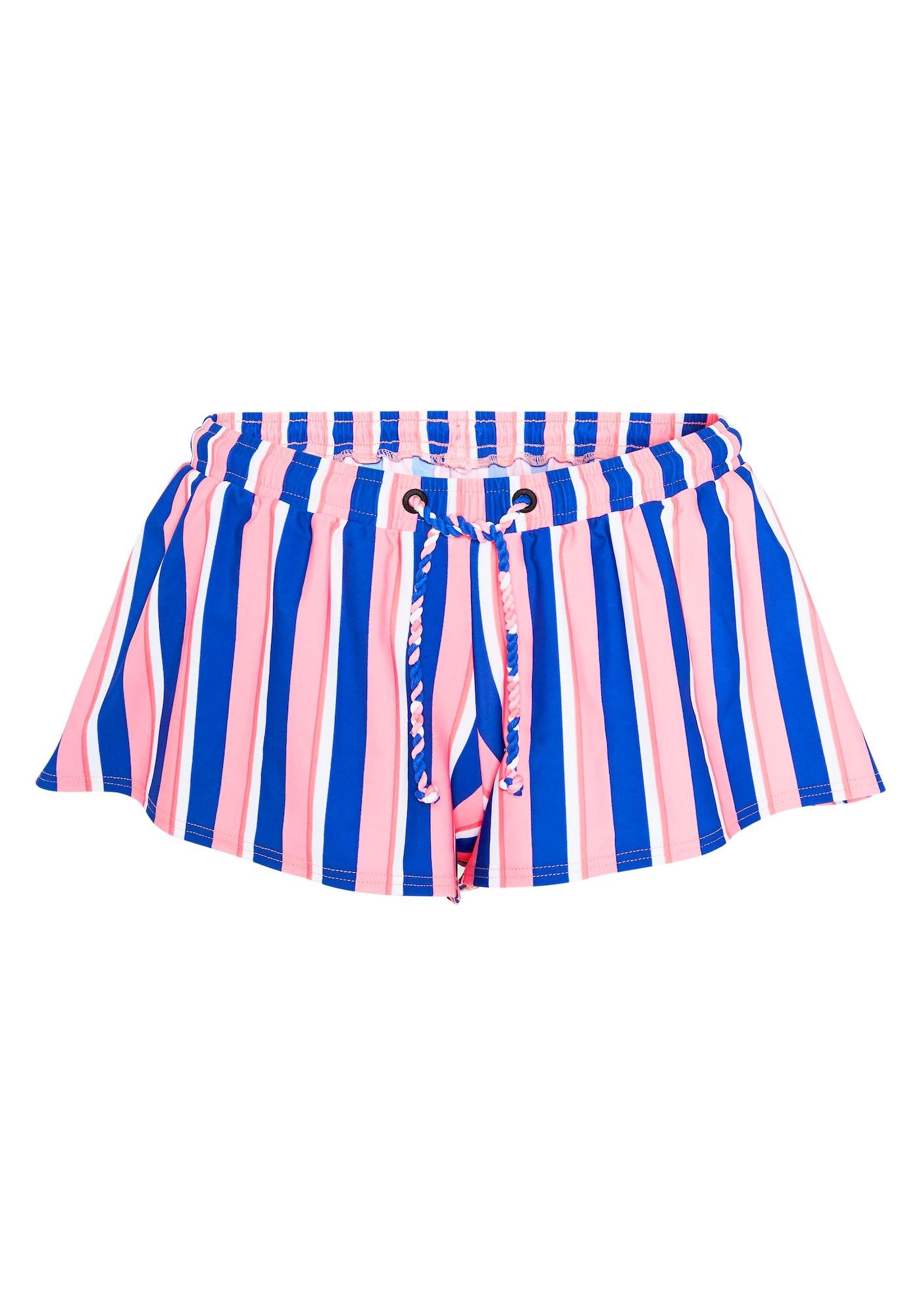 CHIEMSEE Maudymosi trumpikės mėlyna / ryškiai rožinė spalva / balta