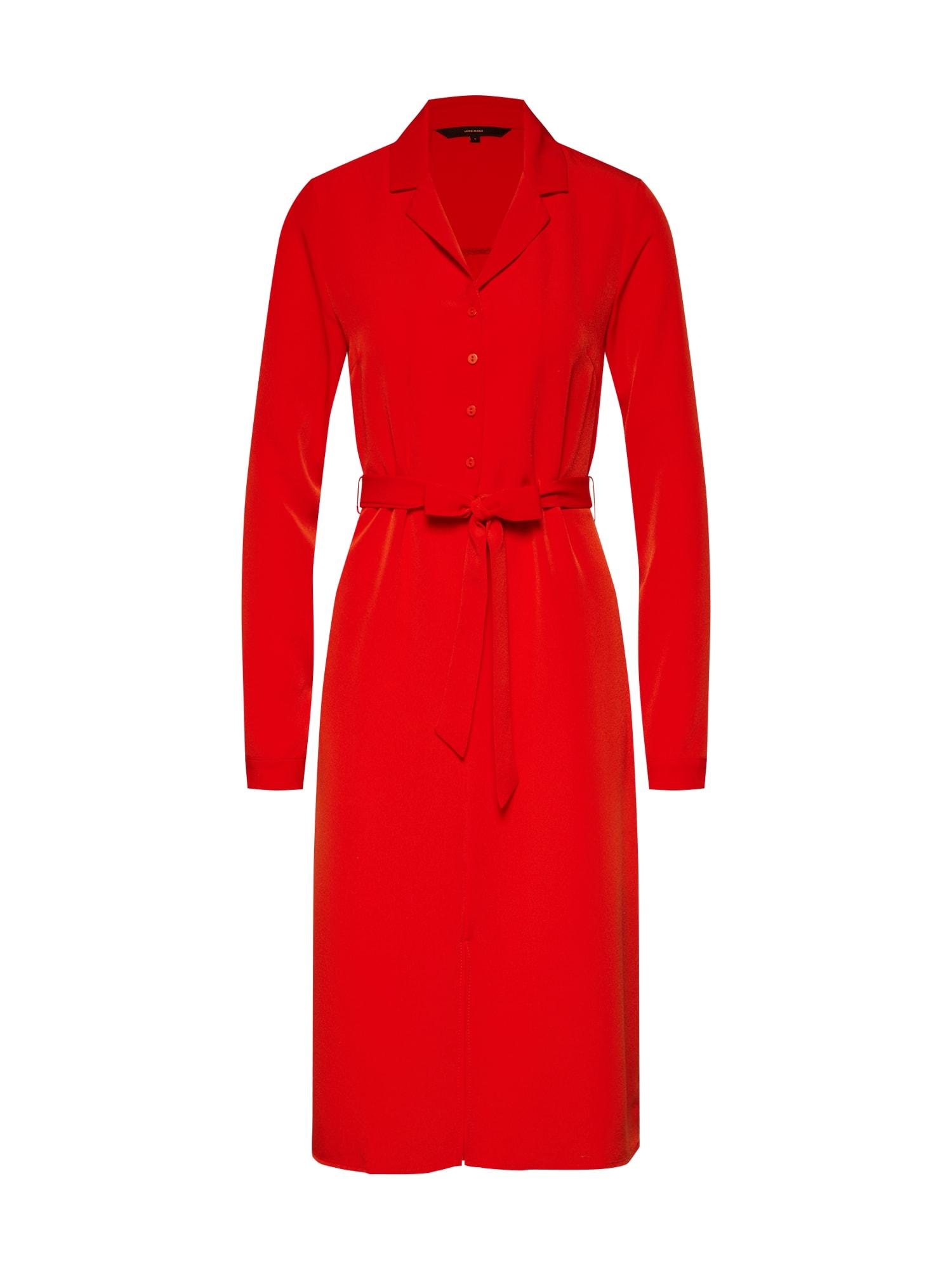 Košilové šaty CAMILA červená VERO MODA