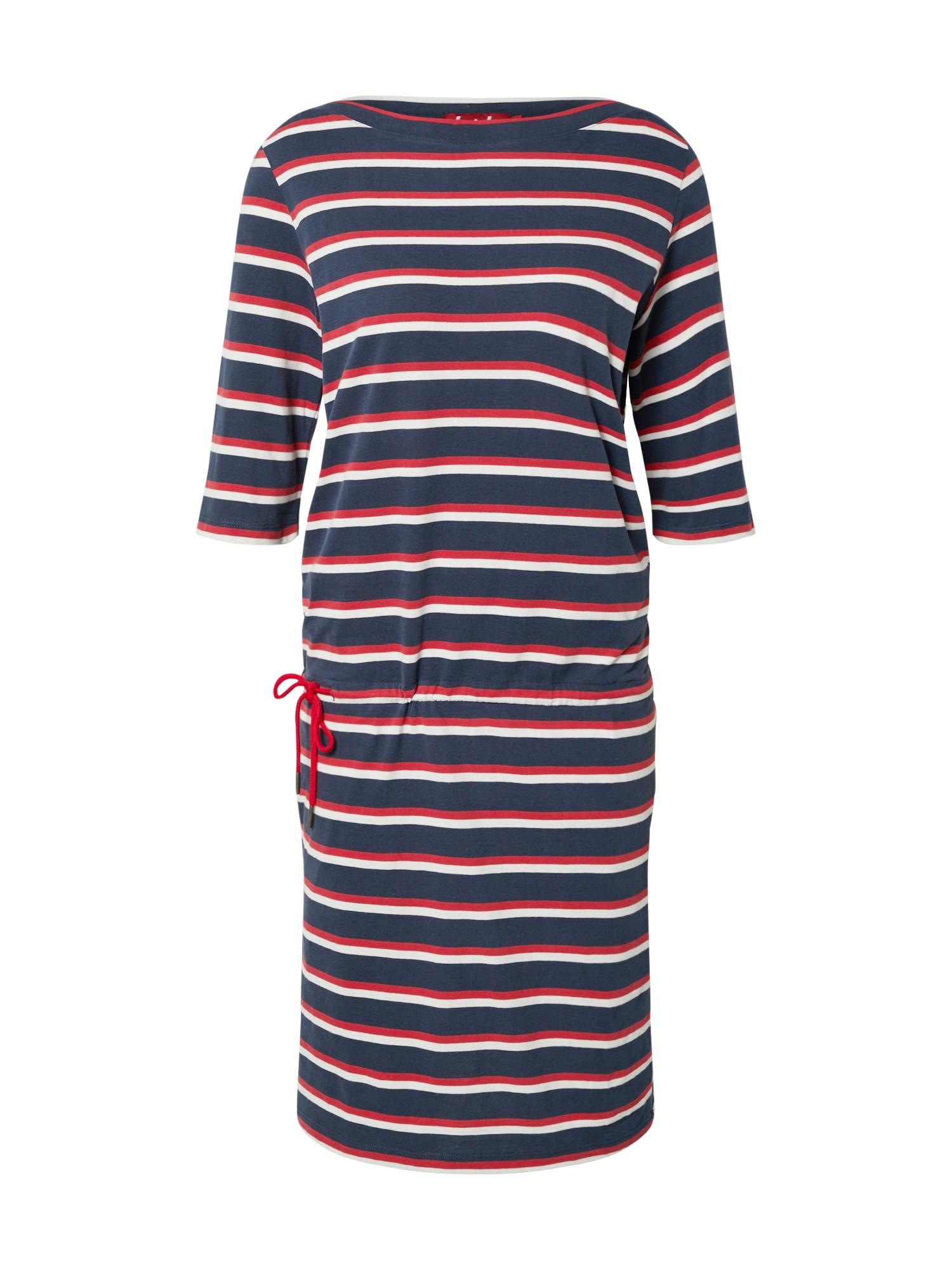 Derbe Suknelė 'Harbor' raudona / balkšva / tamsiai mėlyna