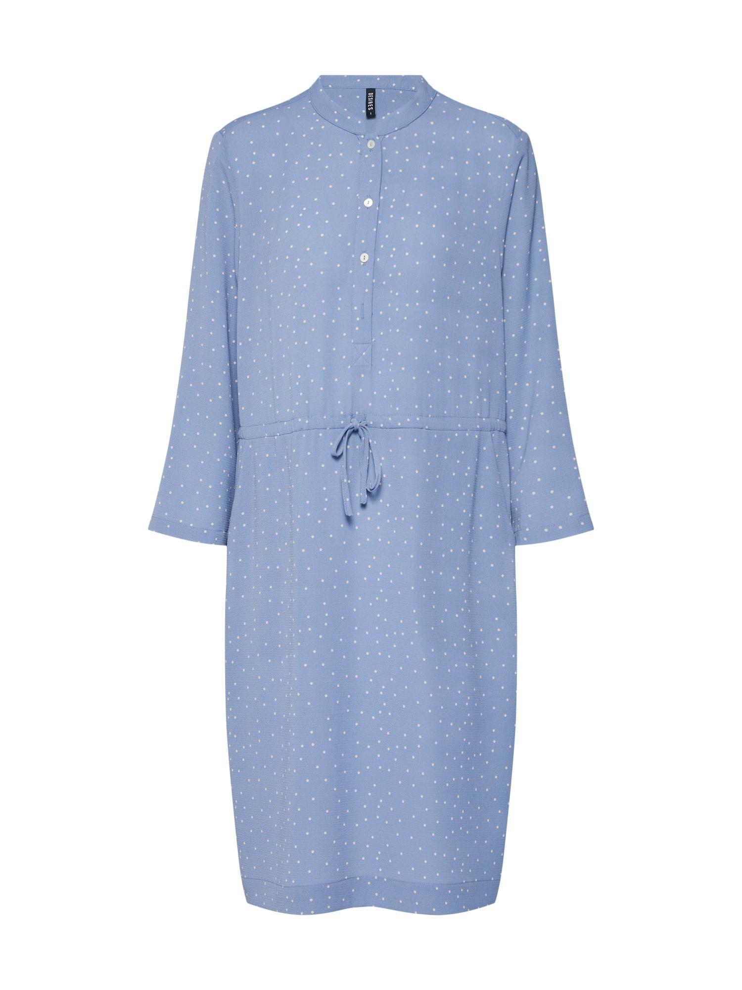 Košilové šaty Valeska světlemodrá bílá Desires