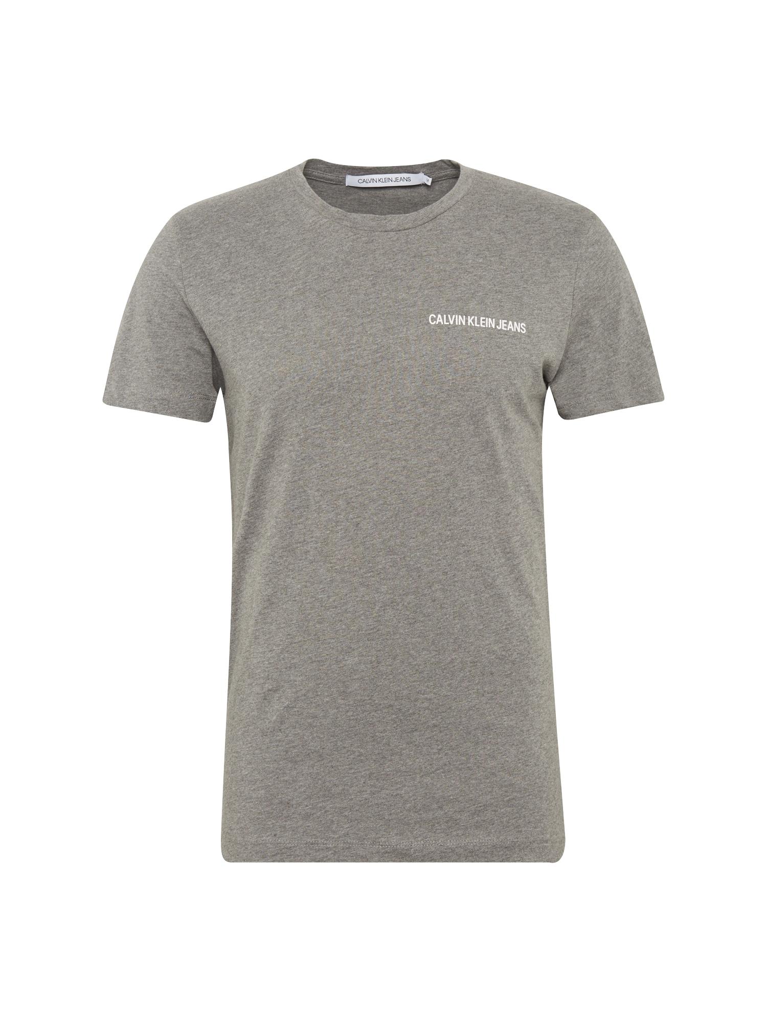 Calvin Klein Jeans Marškinėliai margai pilka