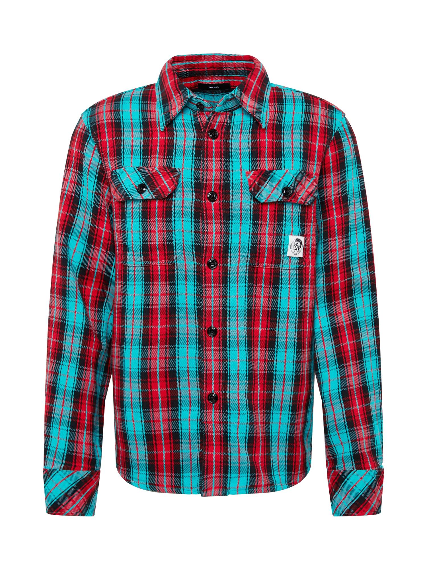 DIESEL Dalykiniai marškiniai 'S-GERRY-CHECK' mišrios spalvos