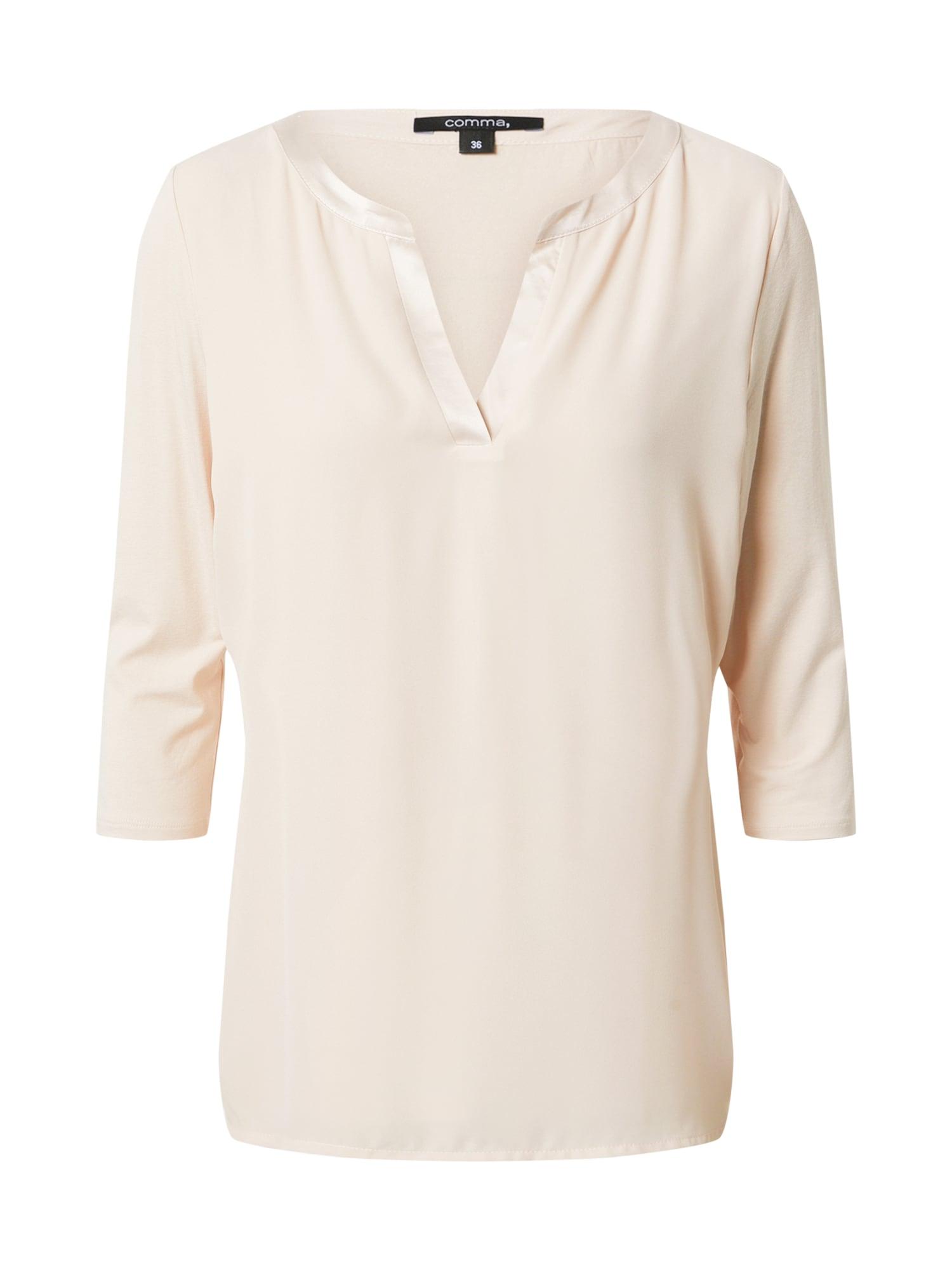 COMMA Marškinėliai pudros spalva