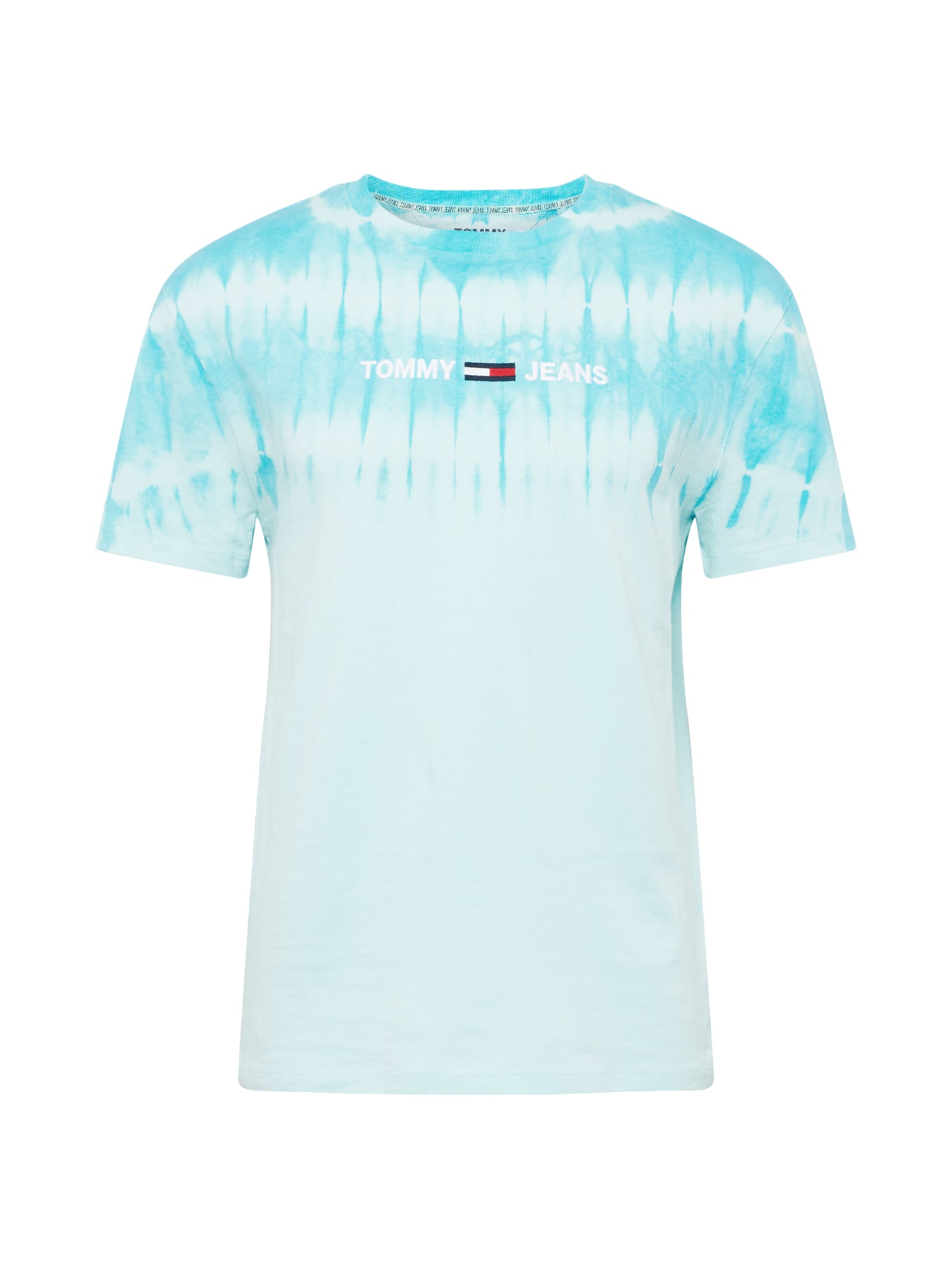 Tommy Jeans Tričko 'TIE DYE'  bílá / světlemodrá / kobaltová modř / červená