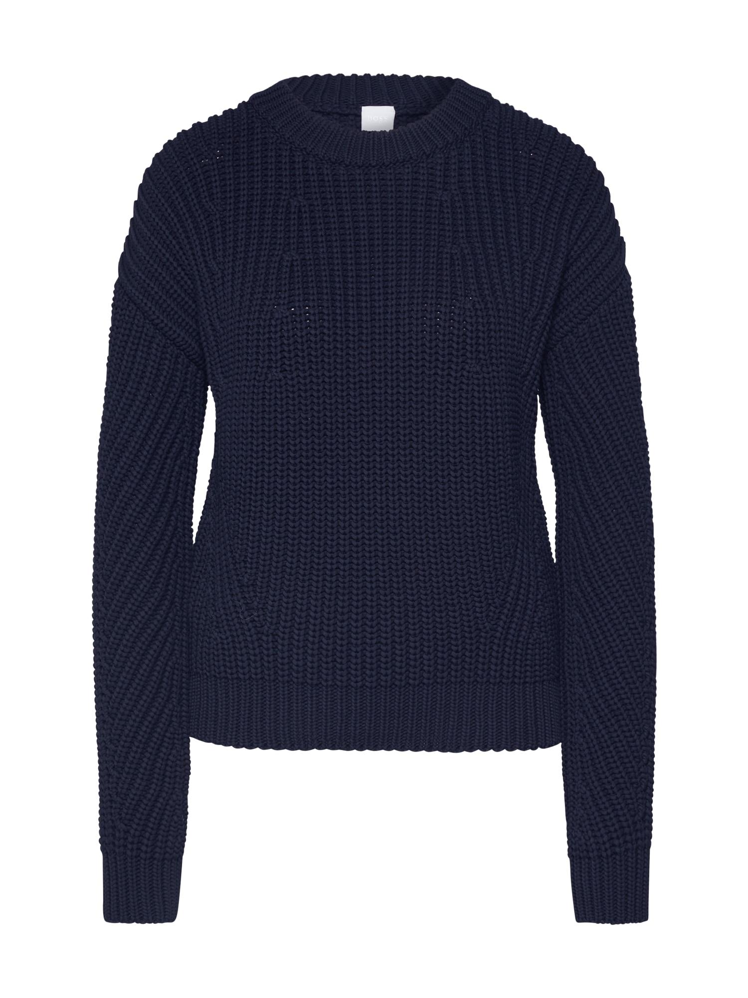BOSS Megztinis 'Waynetta' mėlyna