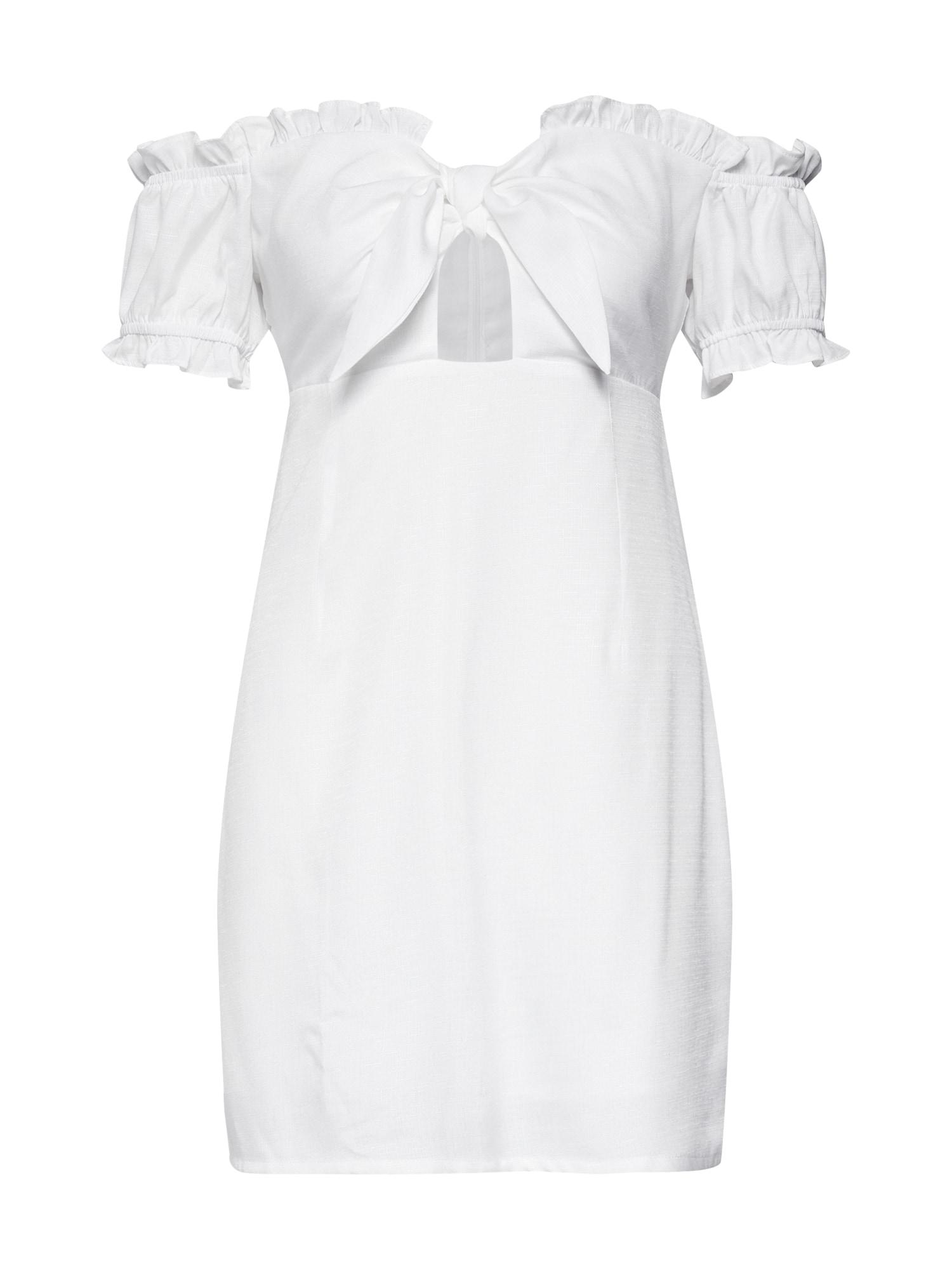 Šaty CK5341 bílá GLAMOROUS