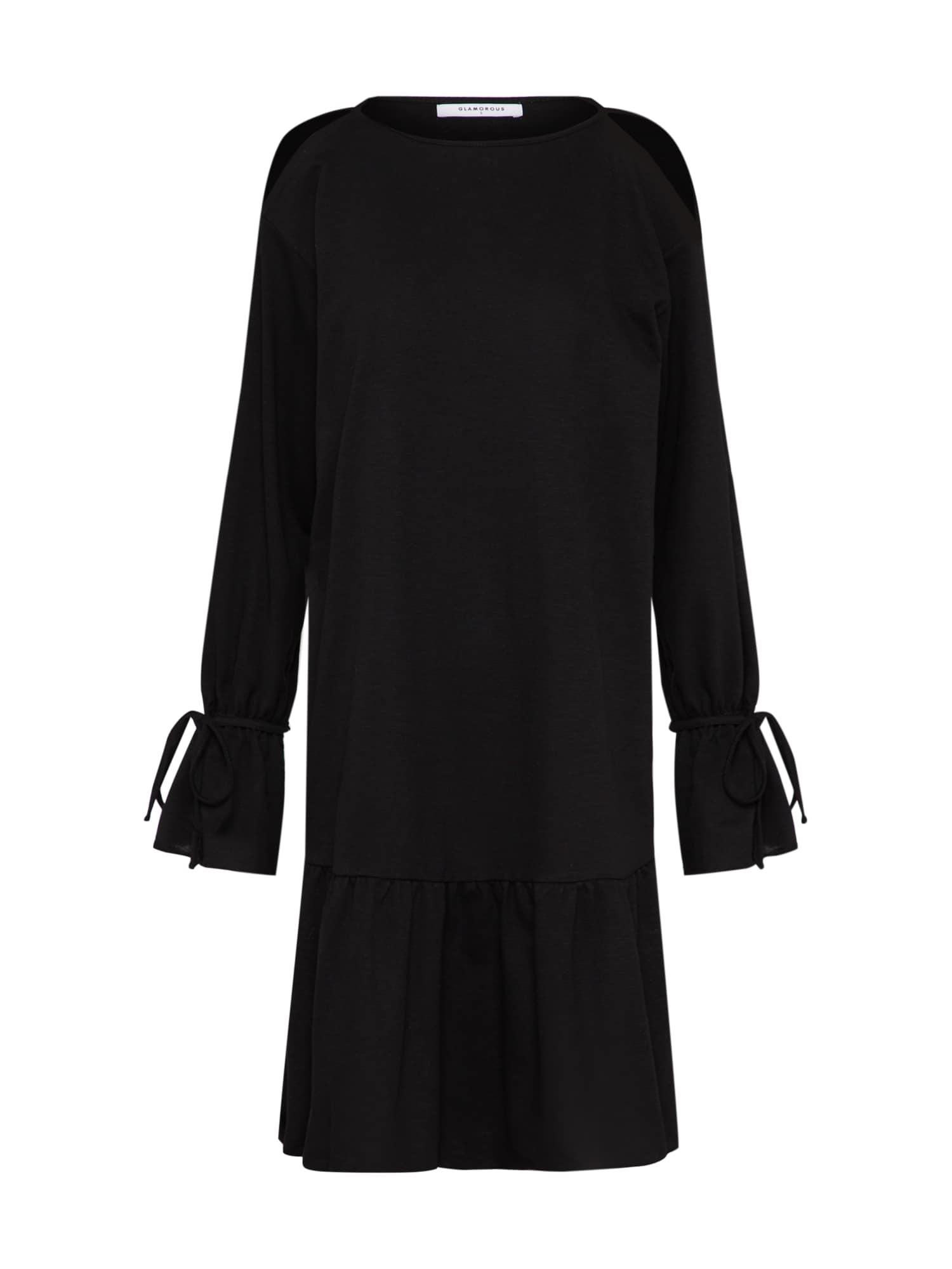 Šaty černá GLAMOROUS