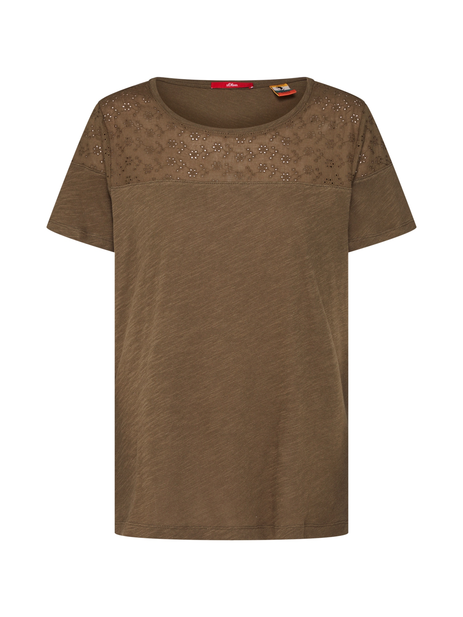 Tričko khaki S.Oliver RED LABEL