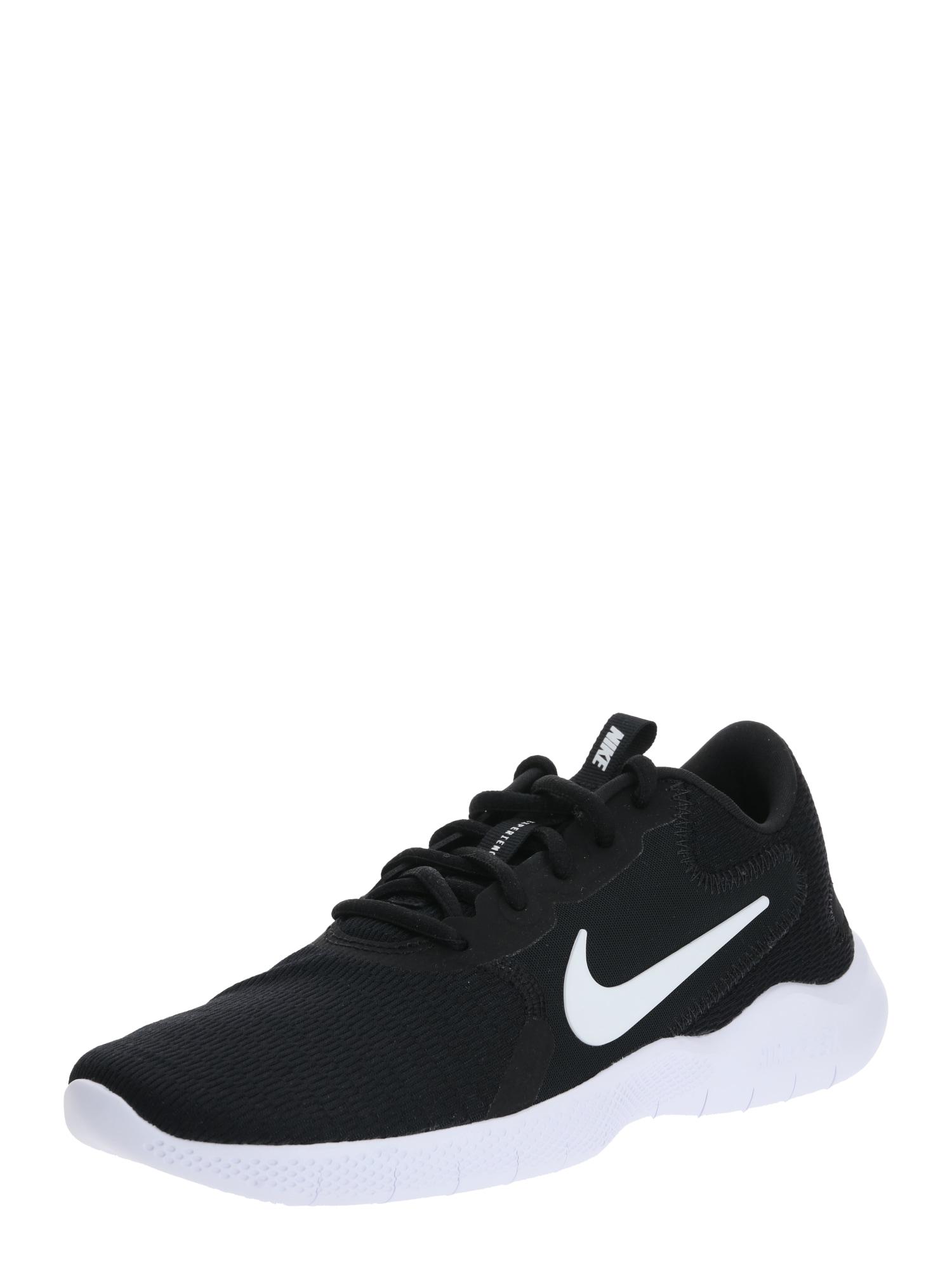 NIKE Bėgimo batai 'Flex Experience Run 9' juoda / balta