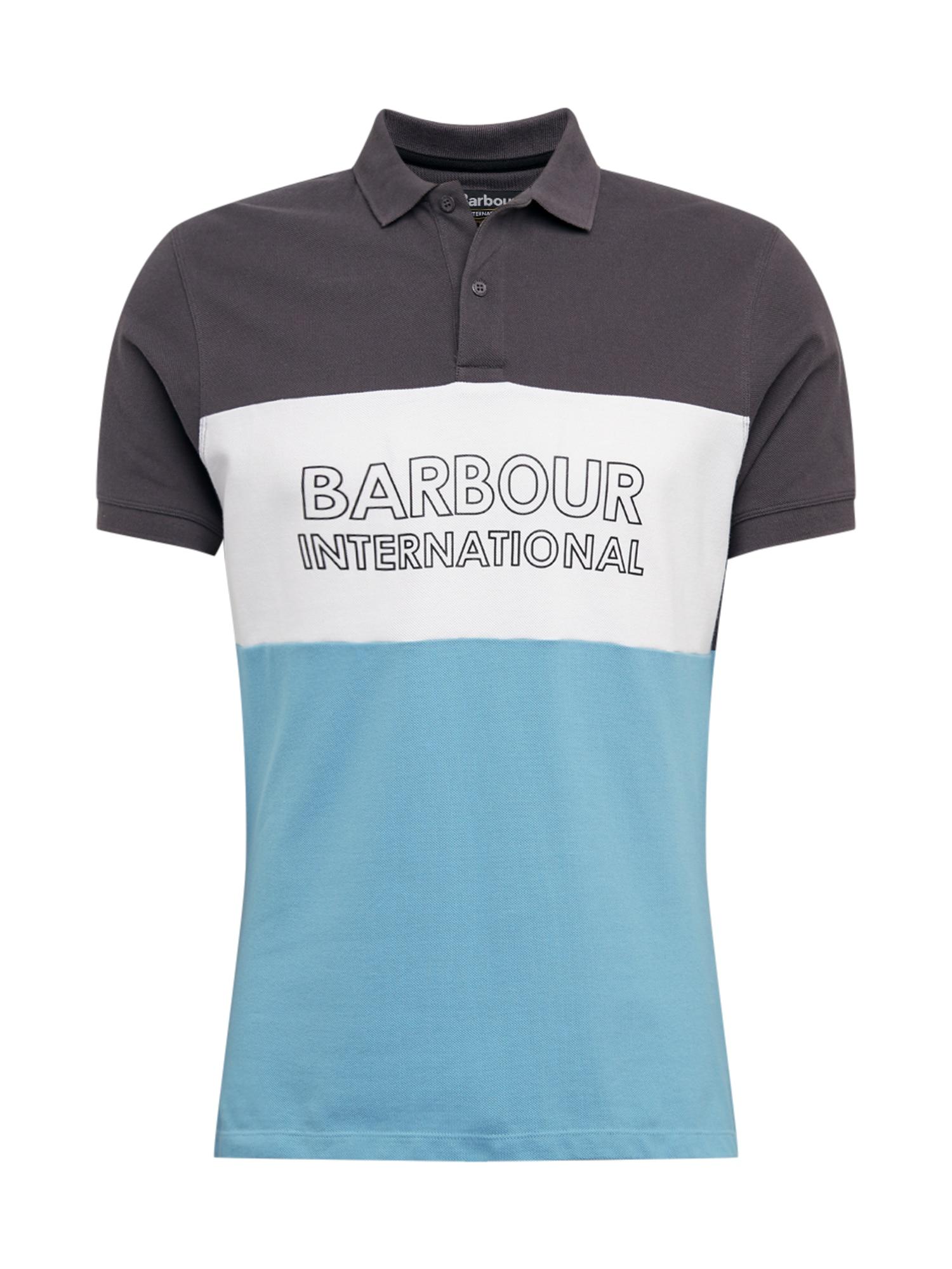 Barbour International Marškinėliai 'B.intl Bold' mėlyna / tamsiai pilka / balta