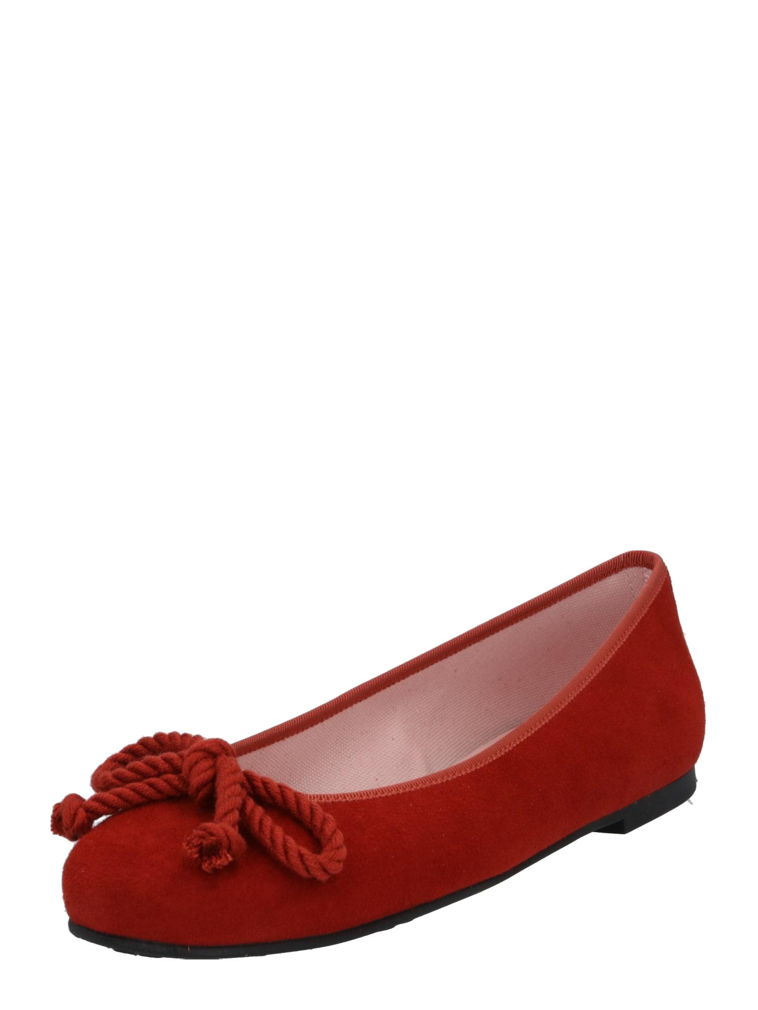 PRETTY BALLERINAS Baleríny 'Angelis'  oranžovo červená